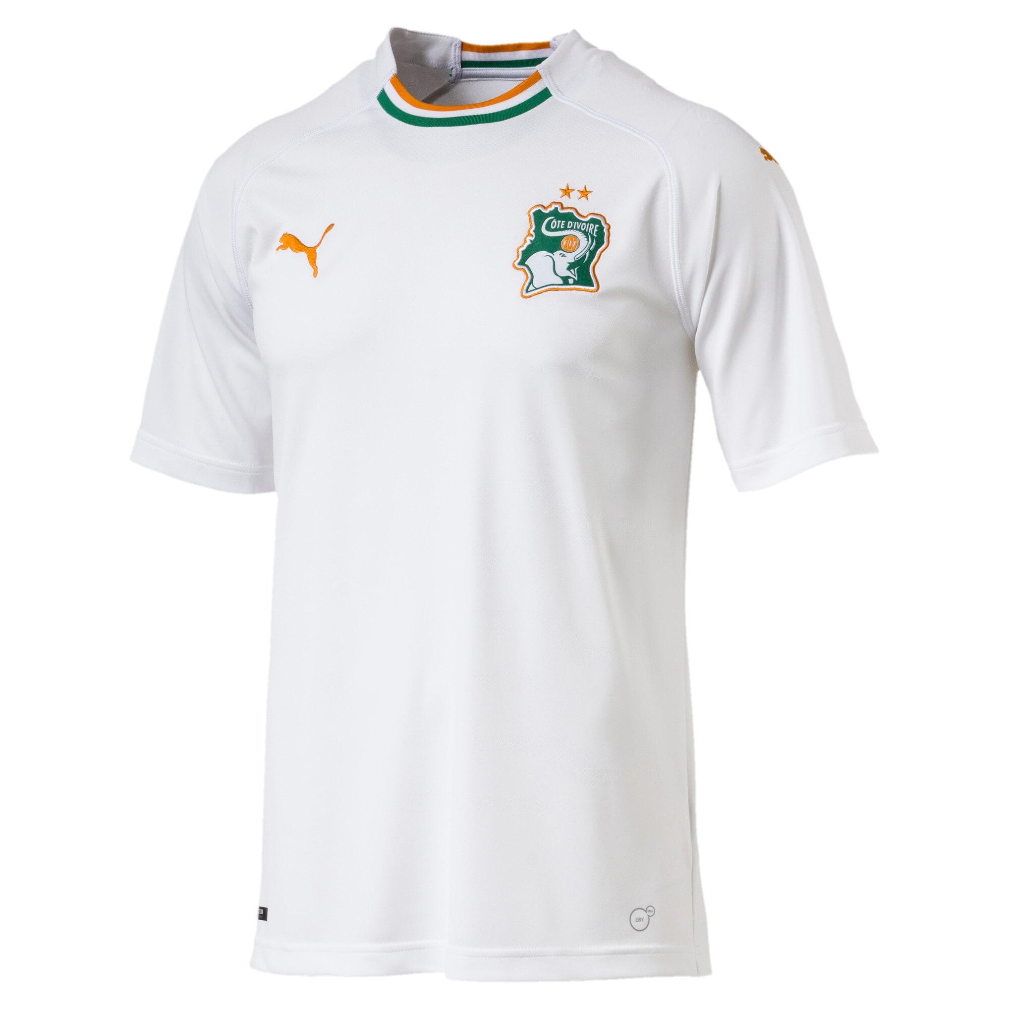Thumbnail 4 of Ivory Coast Men's Away Replica Jersey, Puma White-Flame Orange, medium