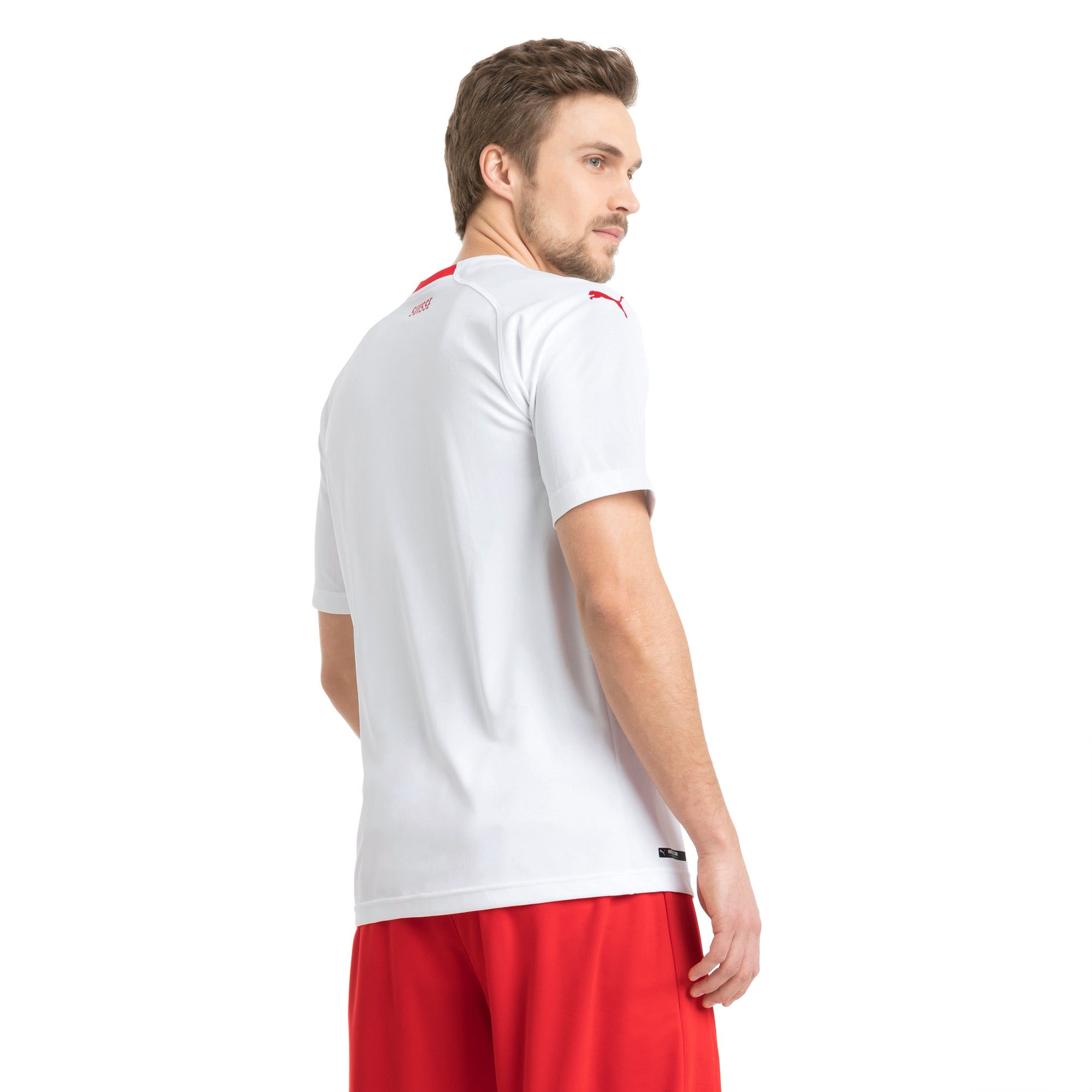 Thumbnail 2 of Switzerland Men's Away Replica Jersey, Puma White-Puma Red, medium