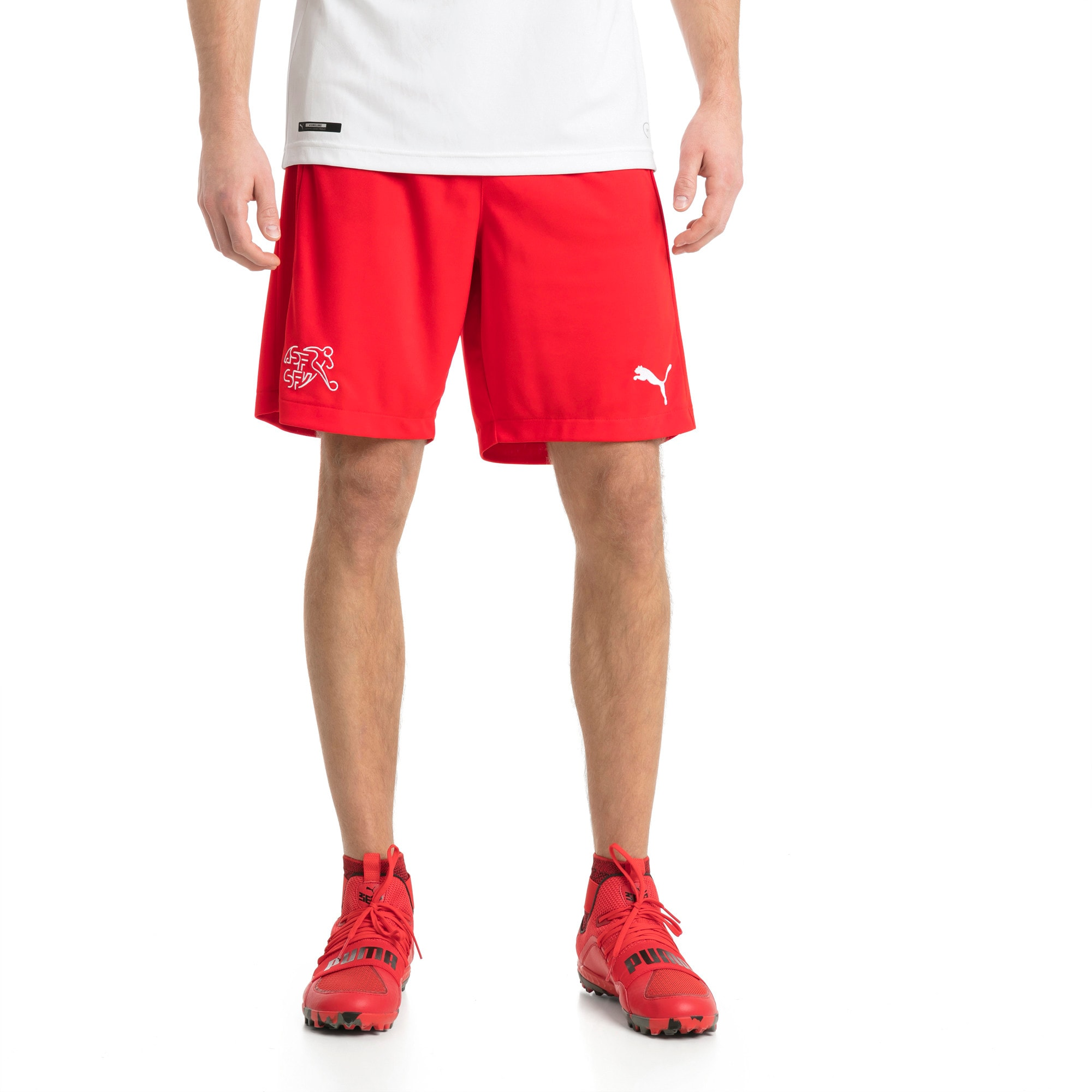 Thumbnail 1 of Switzerland Replica Shorts, Puma Red, medium