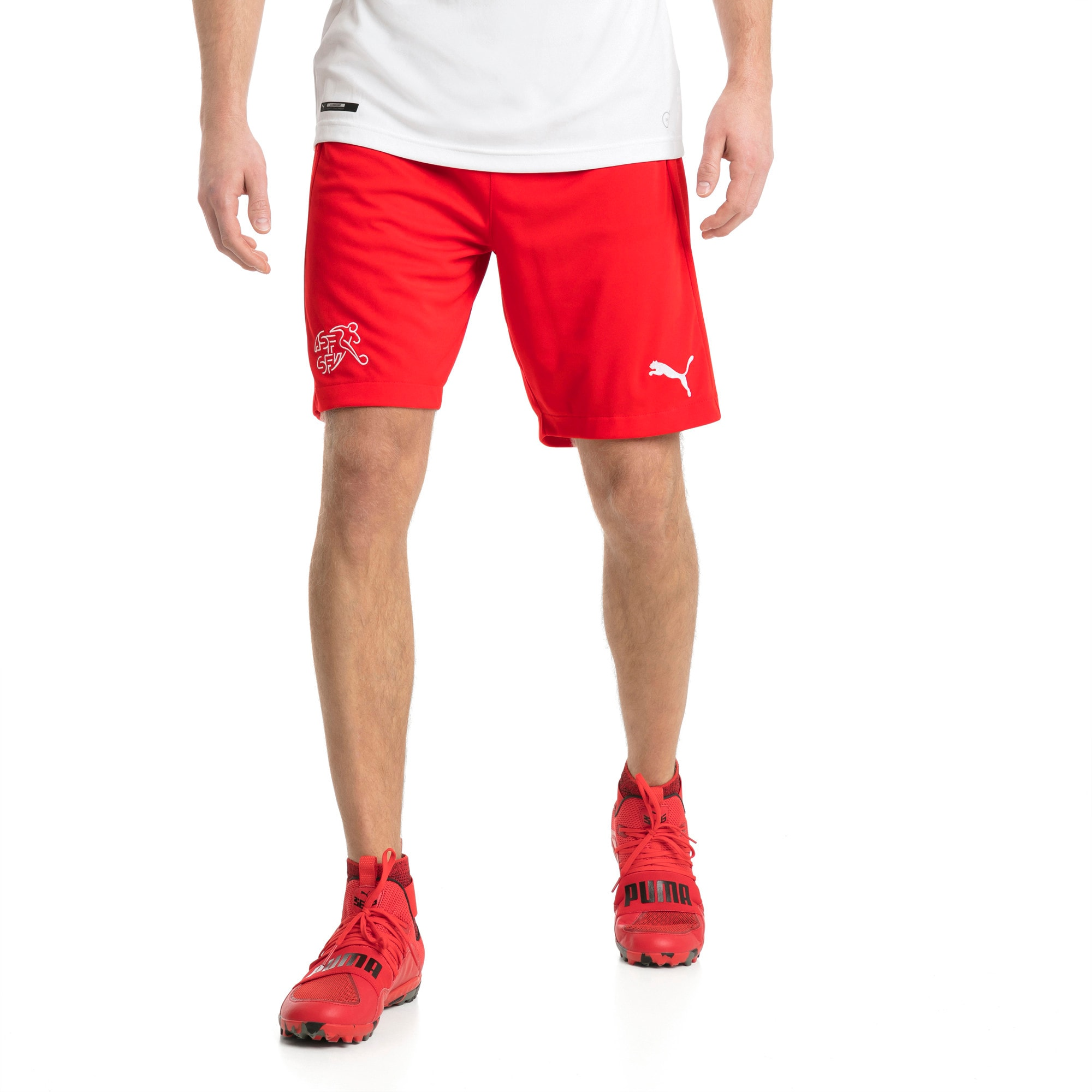 Thumbnail 2 of Switzerland Replica Shorts, Puma Red, medium