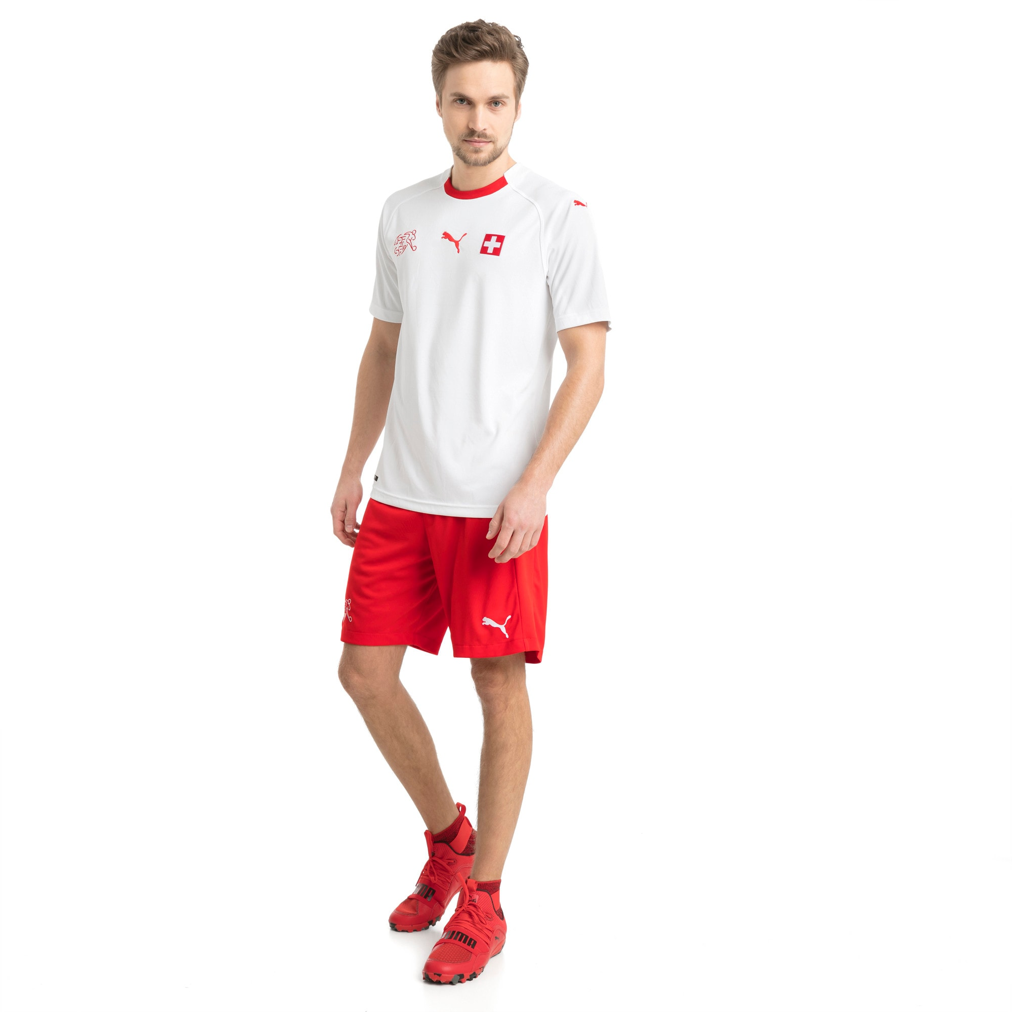 Thumbnail 4 of Switzerland Replica Shorts, Puma Red, medium