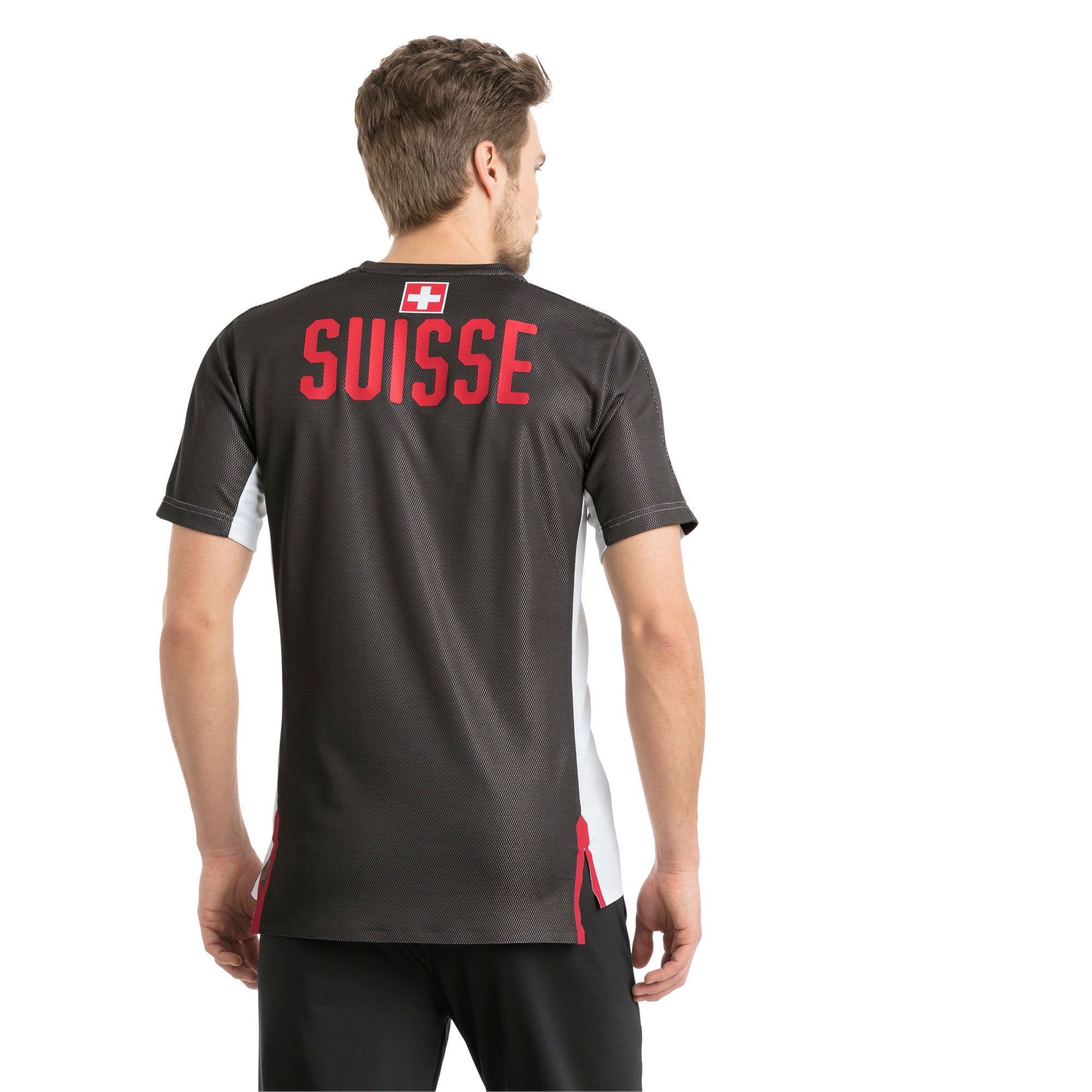 Thumbnail 3 of SUISSE Stadium Jersey, Puma White-Asphalt, medium