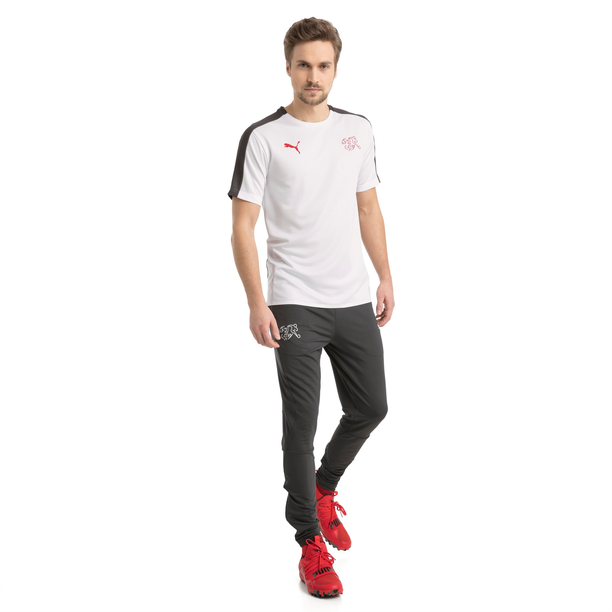 Thumbnail 5 of SUISSE Stadium Jersey, Puma White-Asphalt, medium