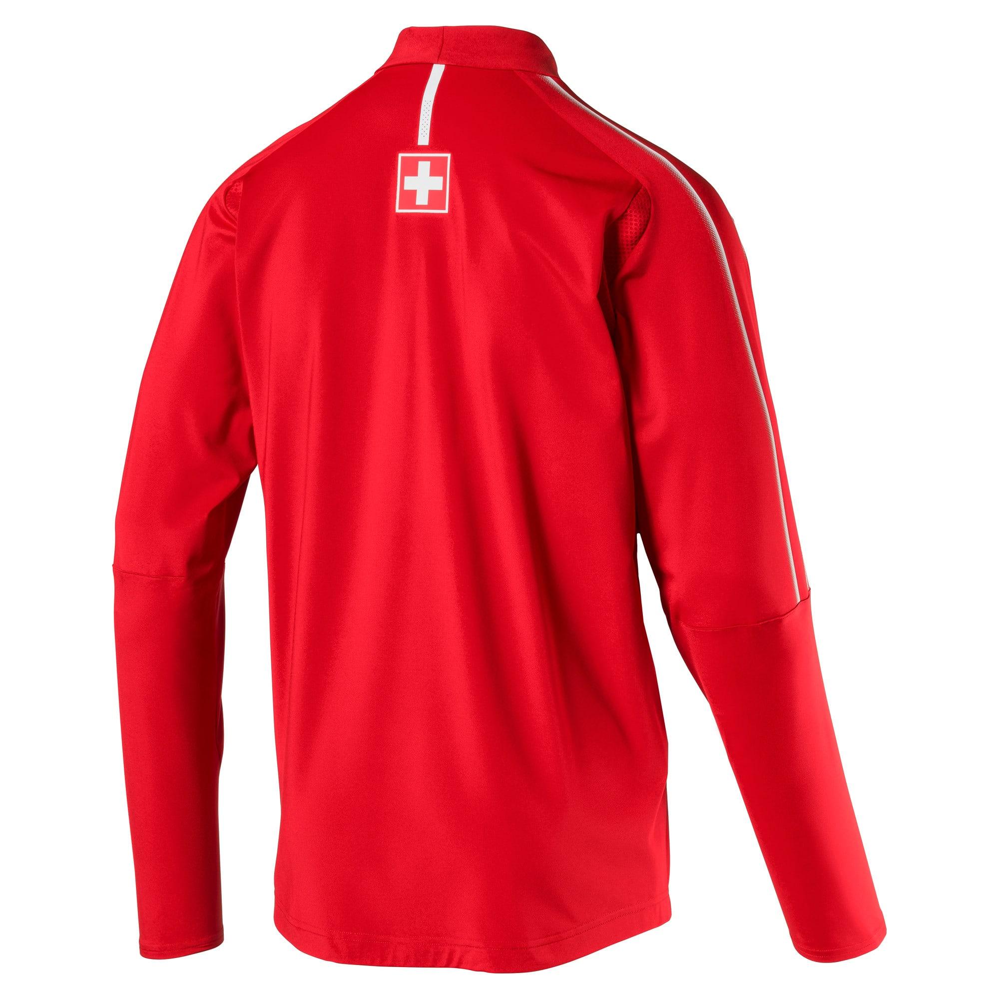Thumbnail 4 of Trainingstop van Zwitserland met korte rits, Puma Red-Puma White, medium