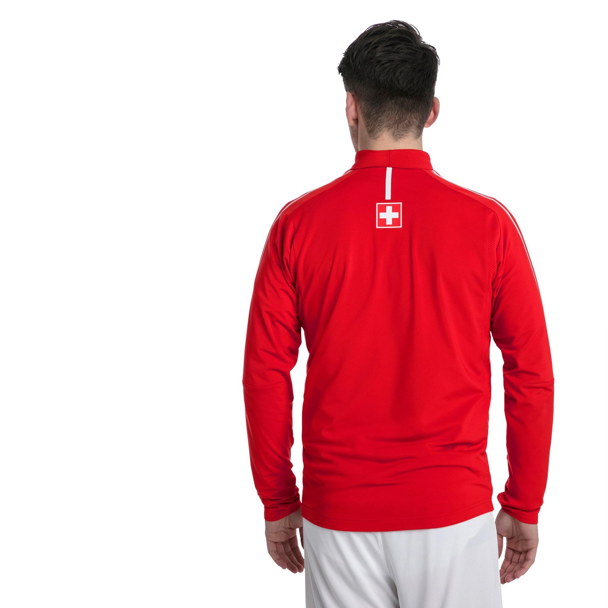Thumbnail 3 of Trainingstop van Zwitserland met korte rits, Puma Red-Puma White, medium