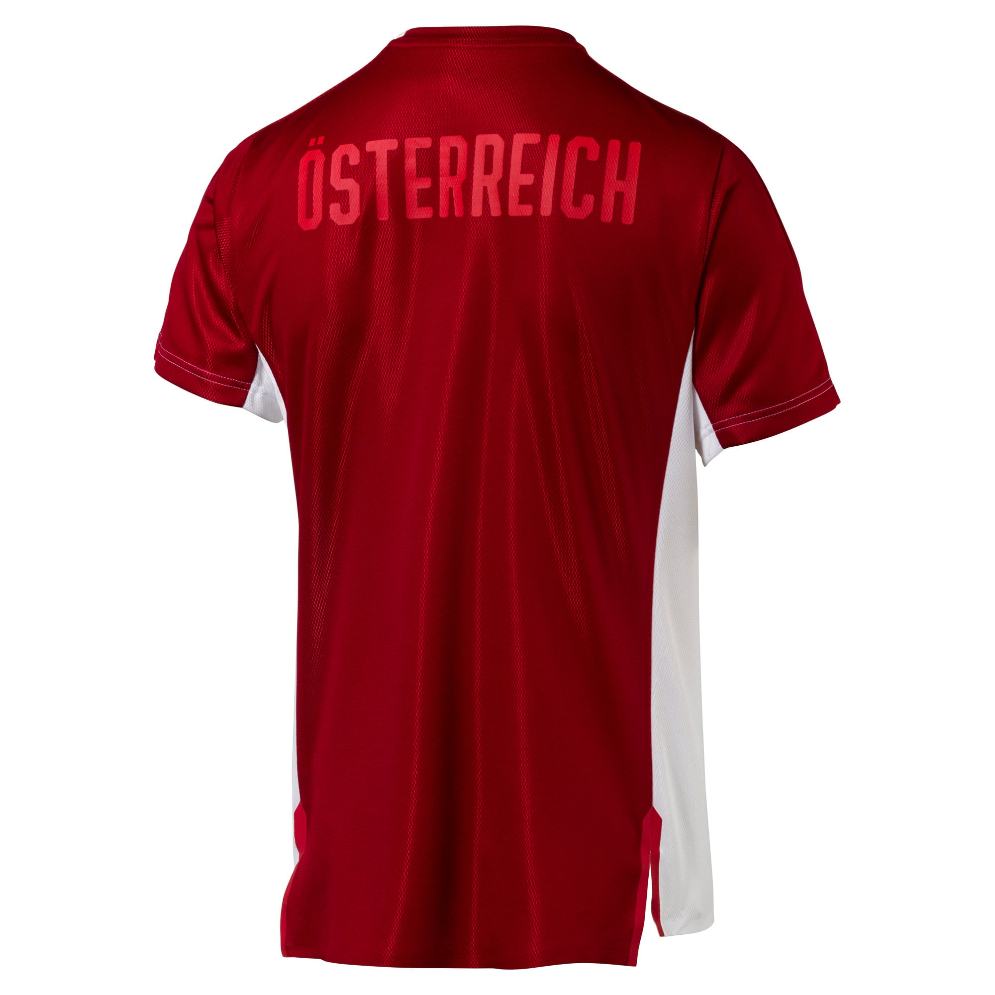 Thumbnail 4 of Austria Men's Stadium Jersey, Puma White-Red Dahlia, medium
