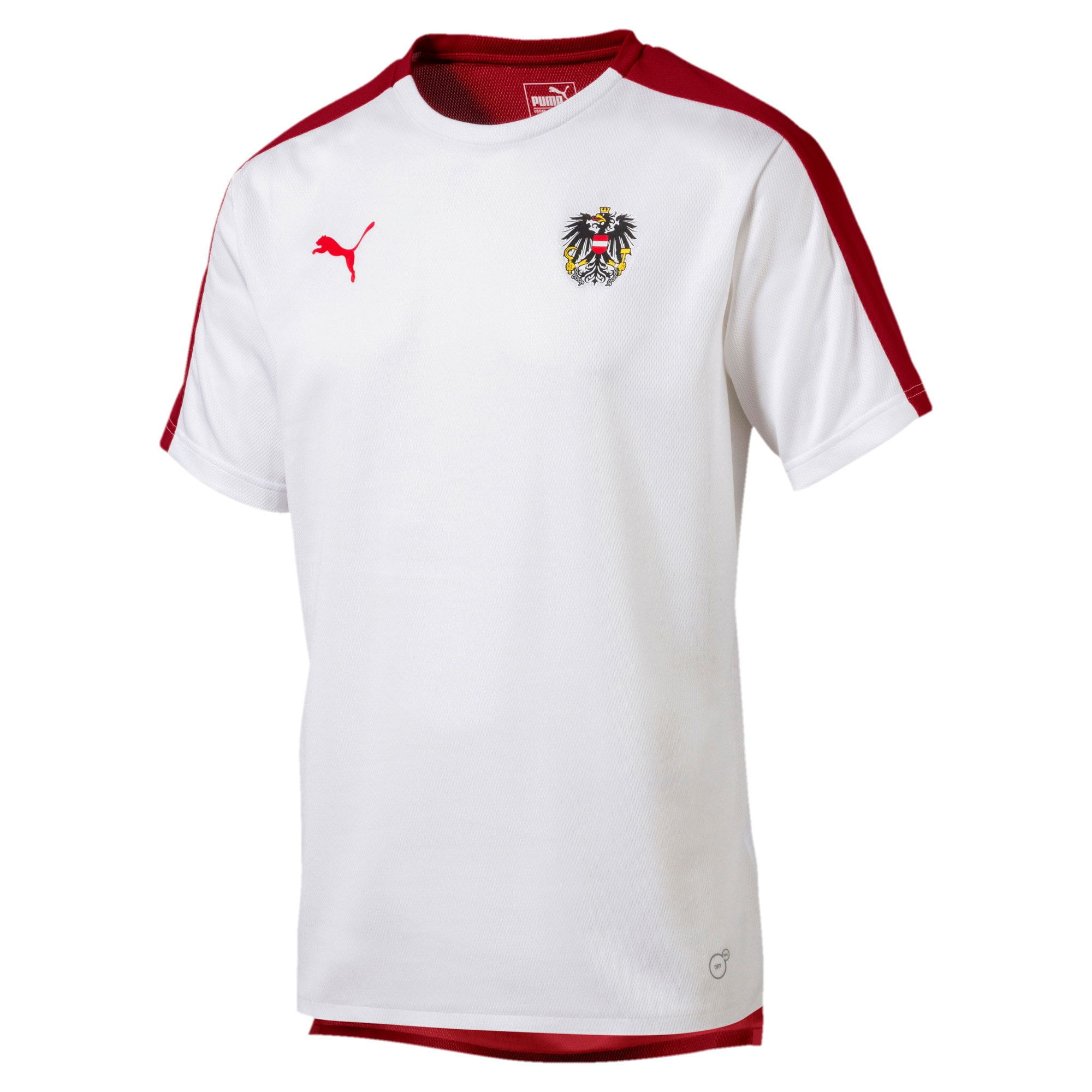 Thumbnail 1 of Austria Men's Stadium Jersey, Puma White-Red Dahlia, medium