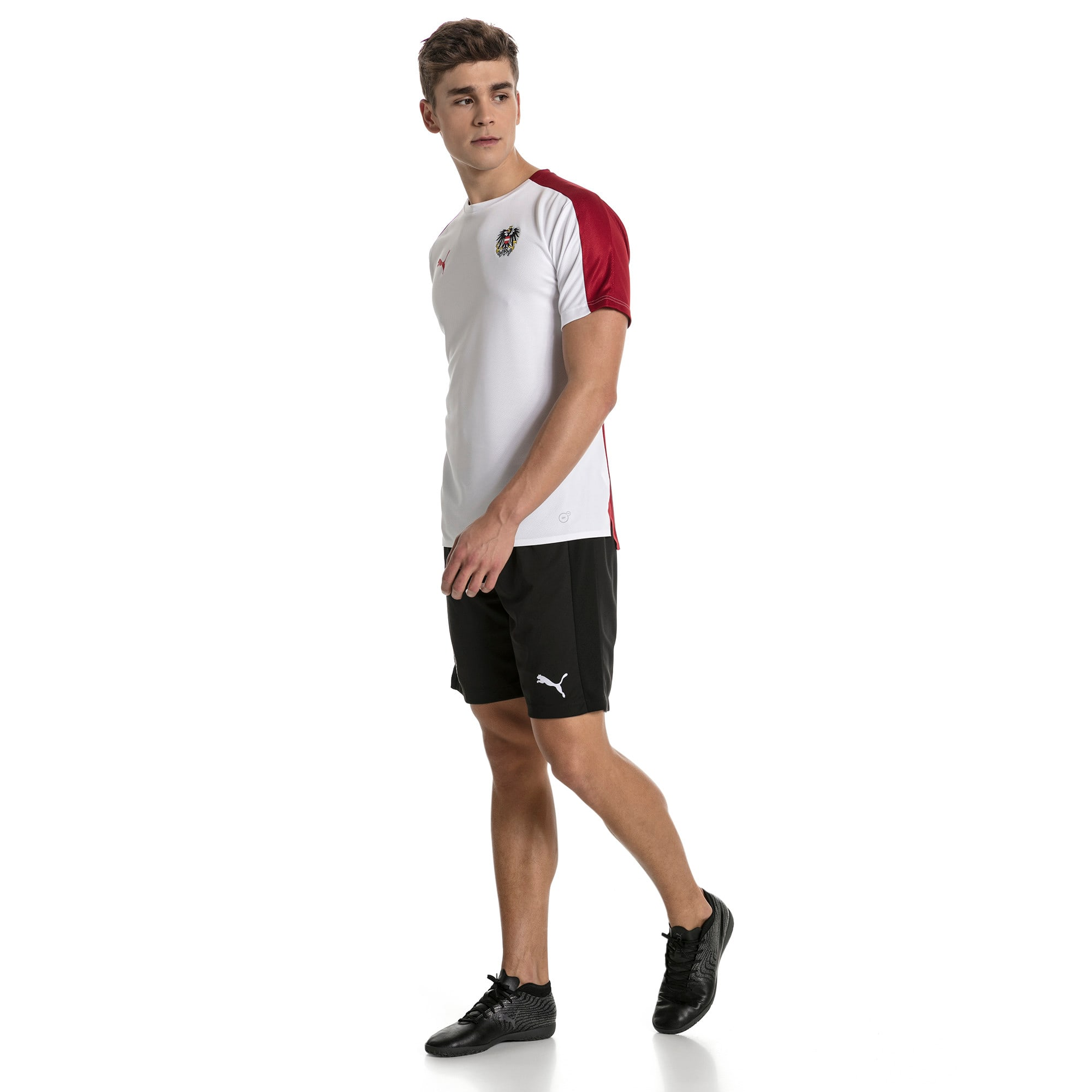 Thumbnail 5 of Austria Men's Stadium Jersey, Puma White-Red Dahlia, medium