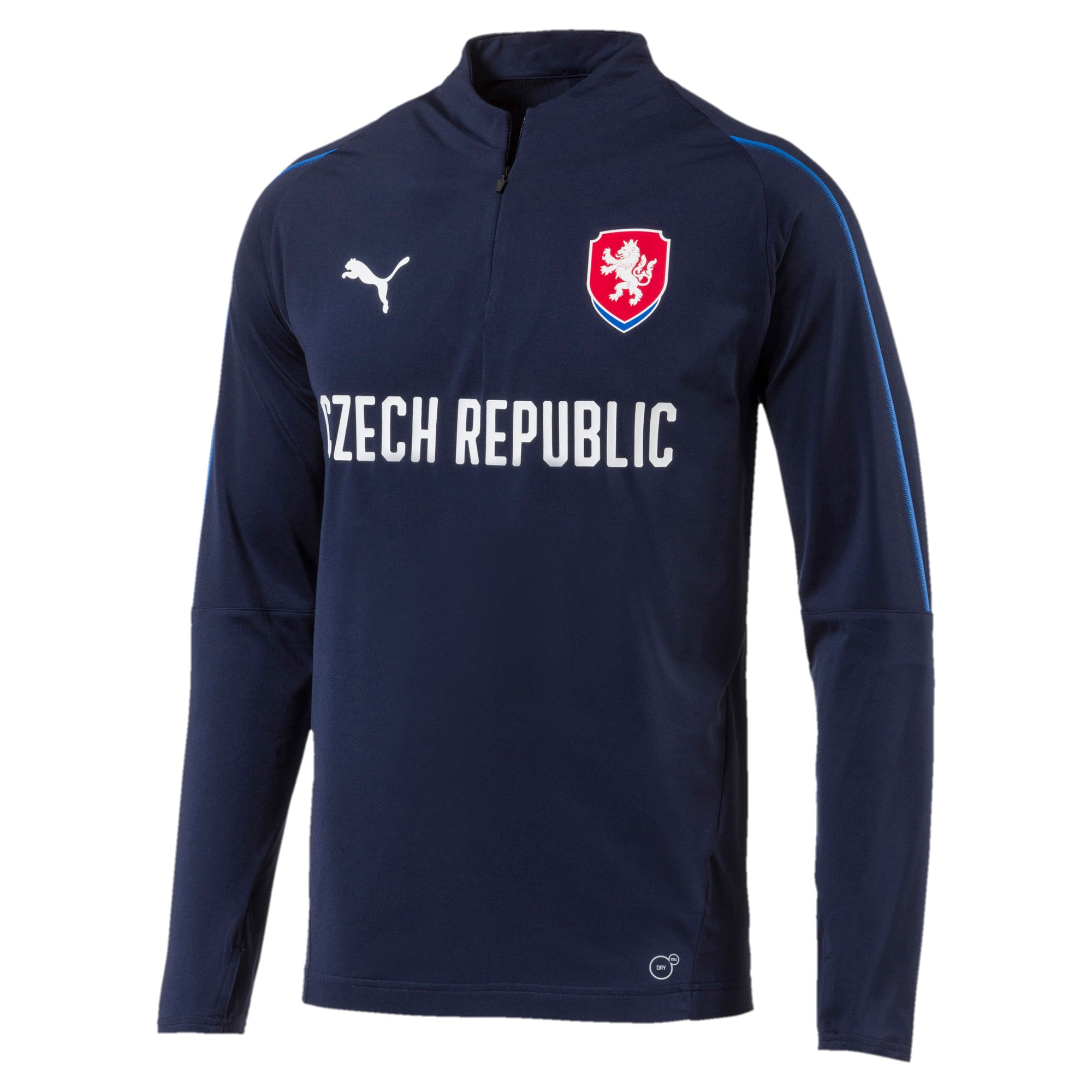 Thumbnail 1 of Czech Republic 1/4 Zip Training Top, Peacoat, medium