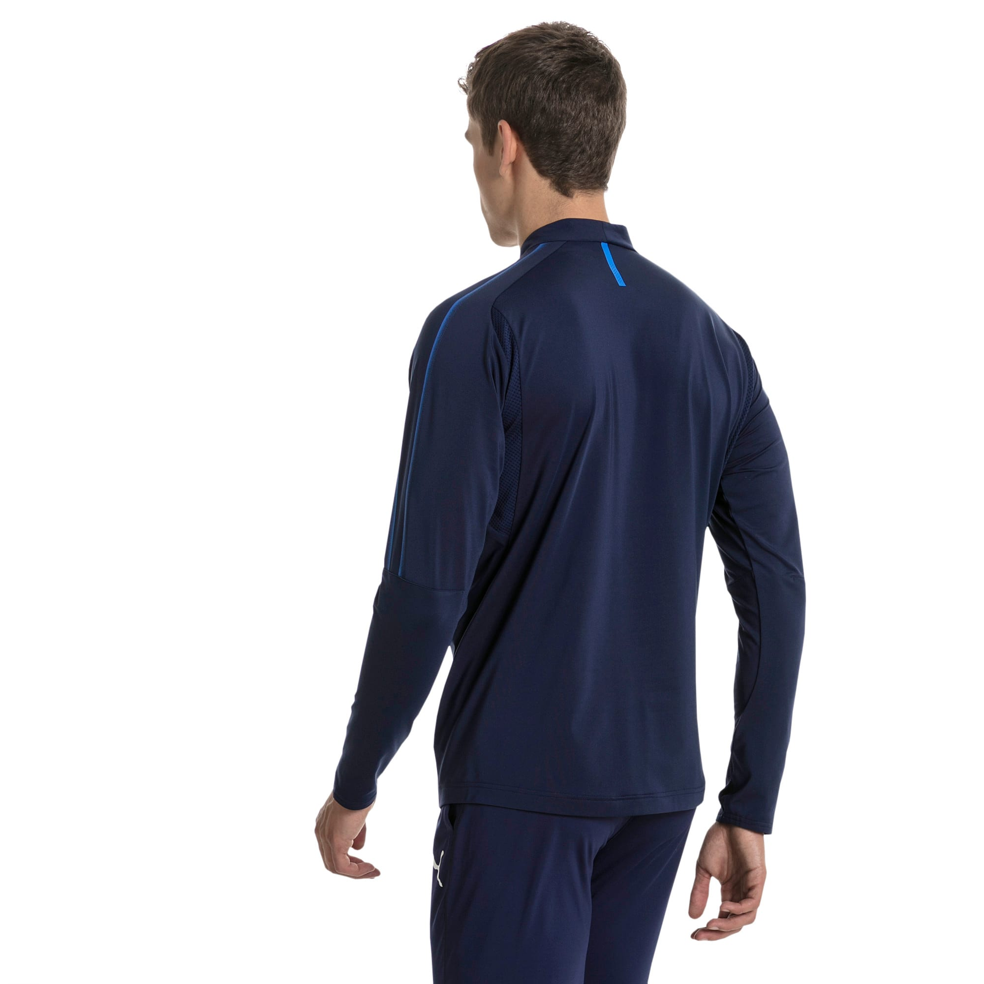 Thumbnail 3 of Czech Republic 1/4 Zip Training Top, Peacoat, medium