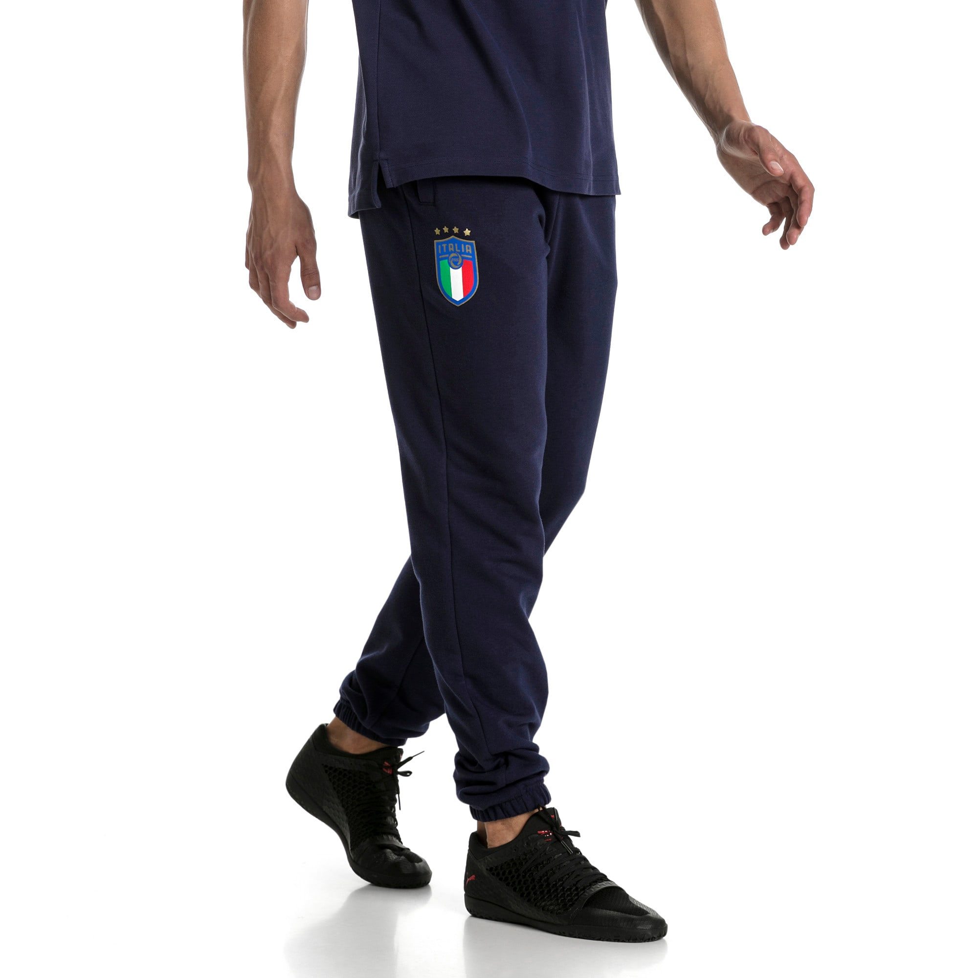 Thumbnail 2 of FIGC Men's Italia Sweat Pants, Peacoat, medium