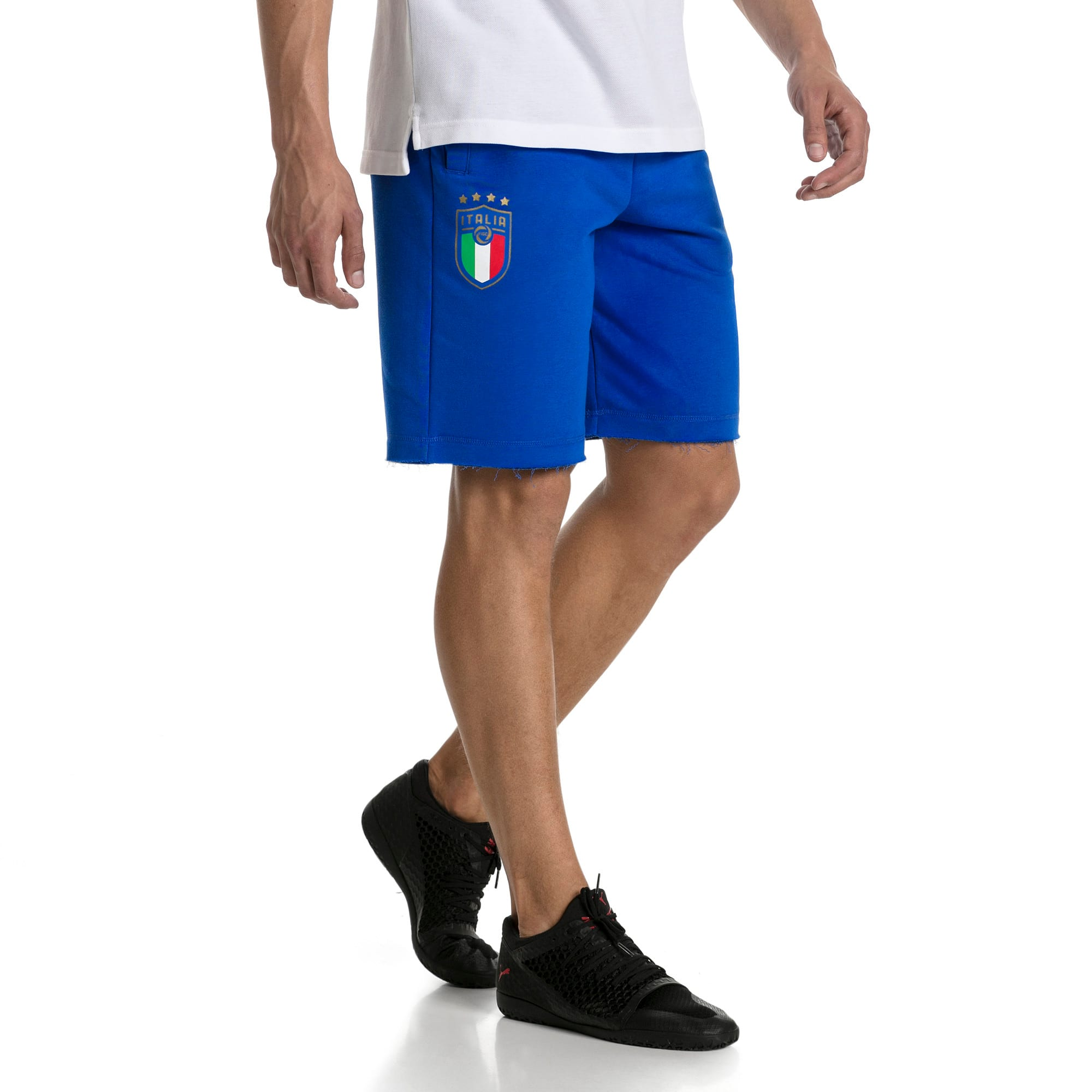 Thumbnail 2 of FIGC Men's Italia Fanwear Bermudas, Team Power Blue, medium