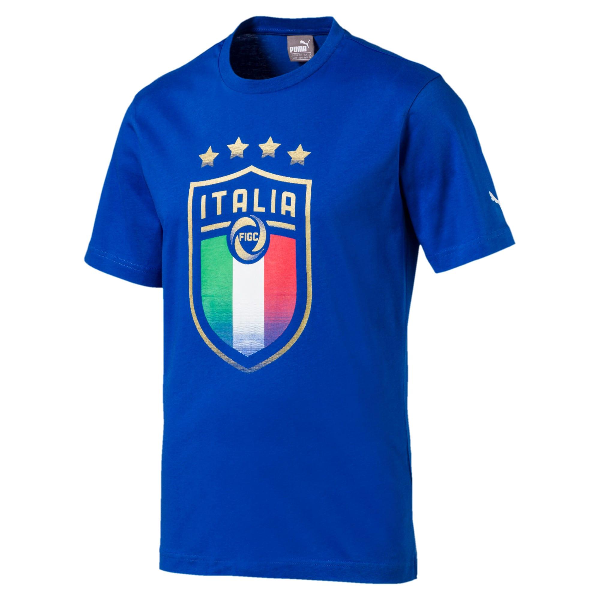 Thumbnail 1 of Italia Badge Tee, Team Power Blue, medium