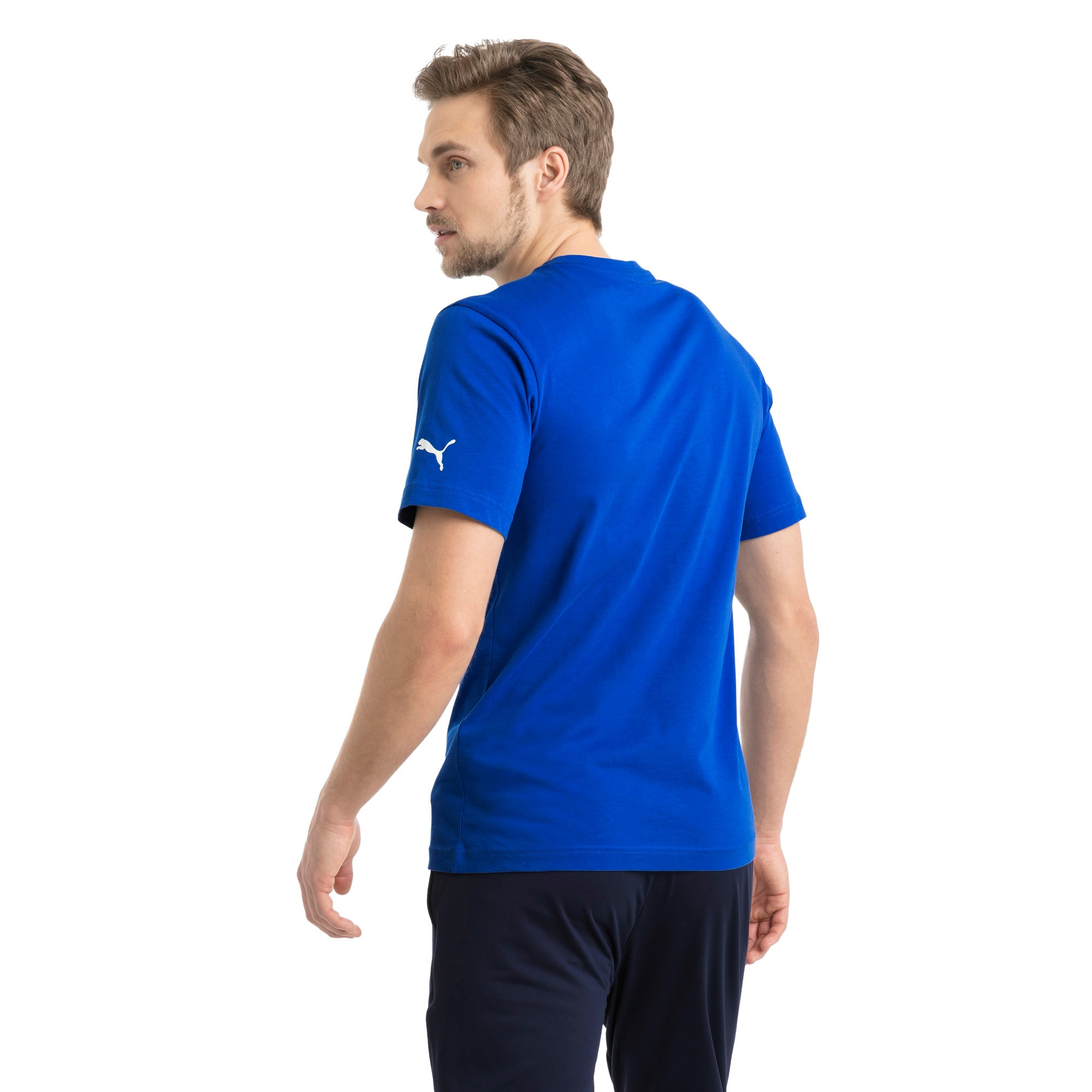 Thumbnail 3 of Italia Wappen T-Shirt, Team Power Blue, medium
