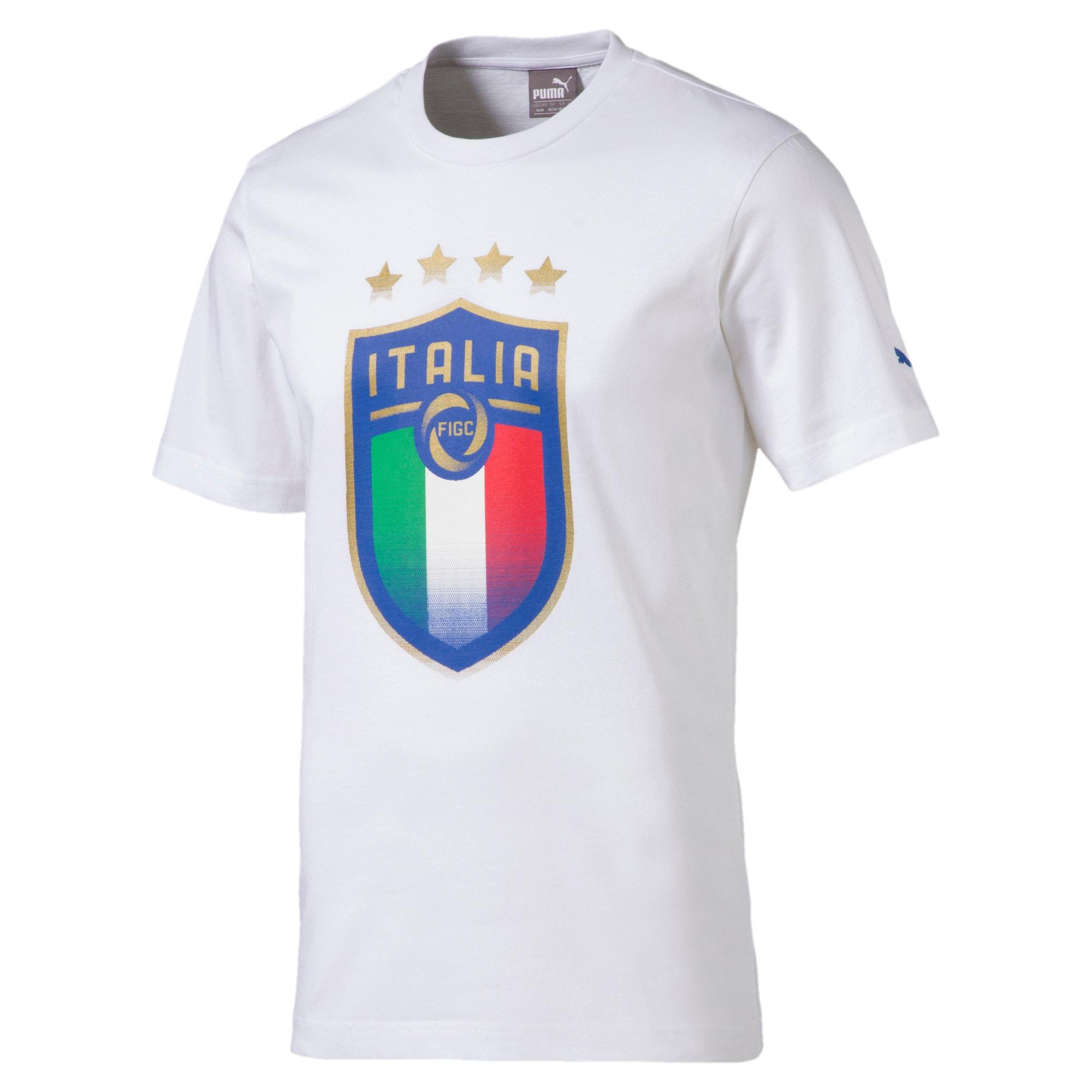 Thumbnail 1 of Italia Badge Tee, Puma White, medium