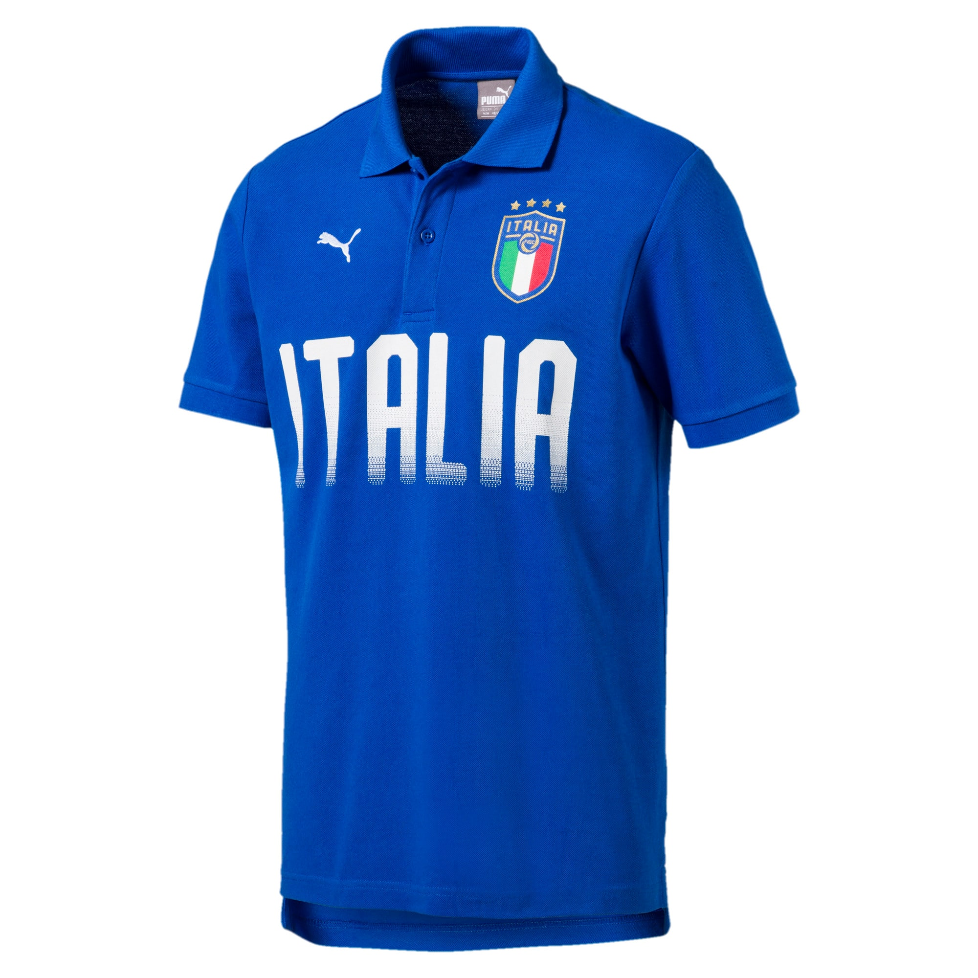 Thumbnail 1 of FIGC Men's Italia Fanwear Polo, Team Power Blue, medium