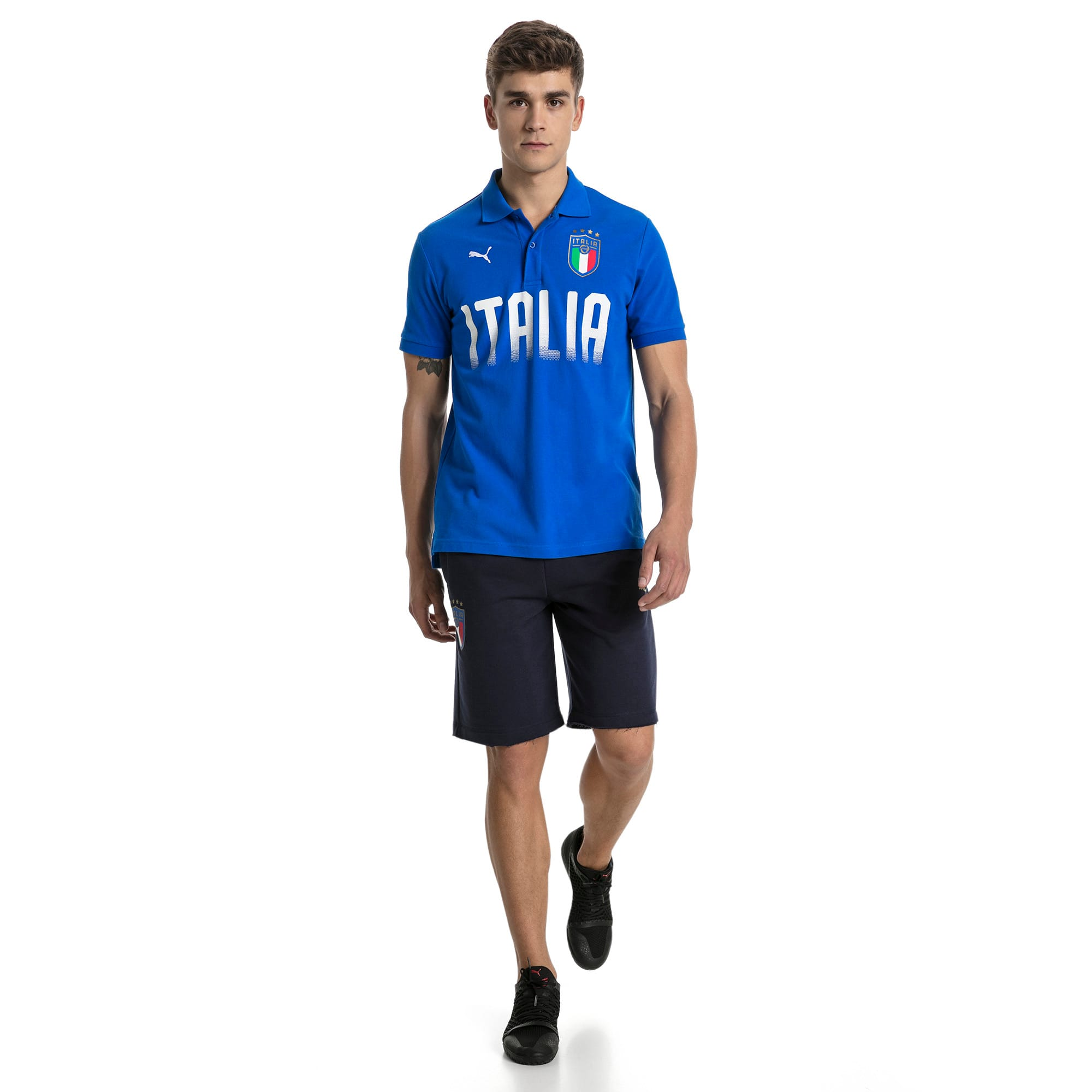 Thumbnail 5 of FIGC Men's Italia Fanwear Polo, Team Power Blue, medium