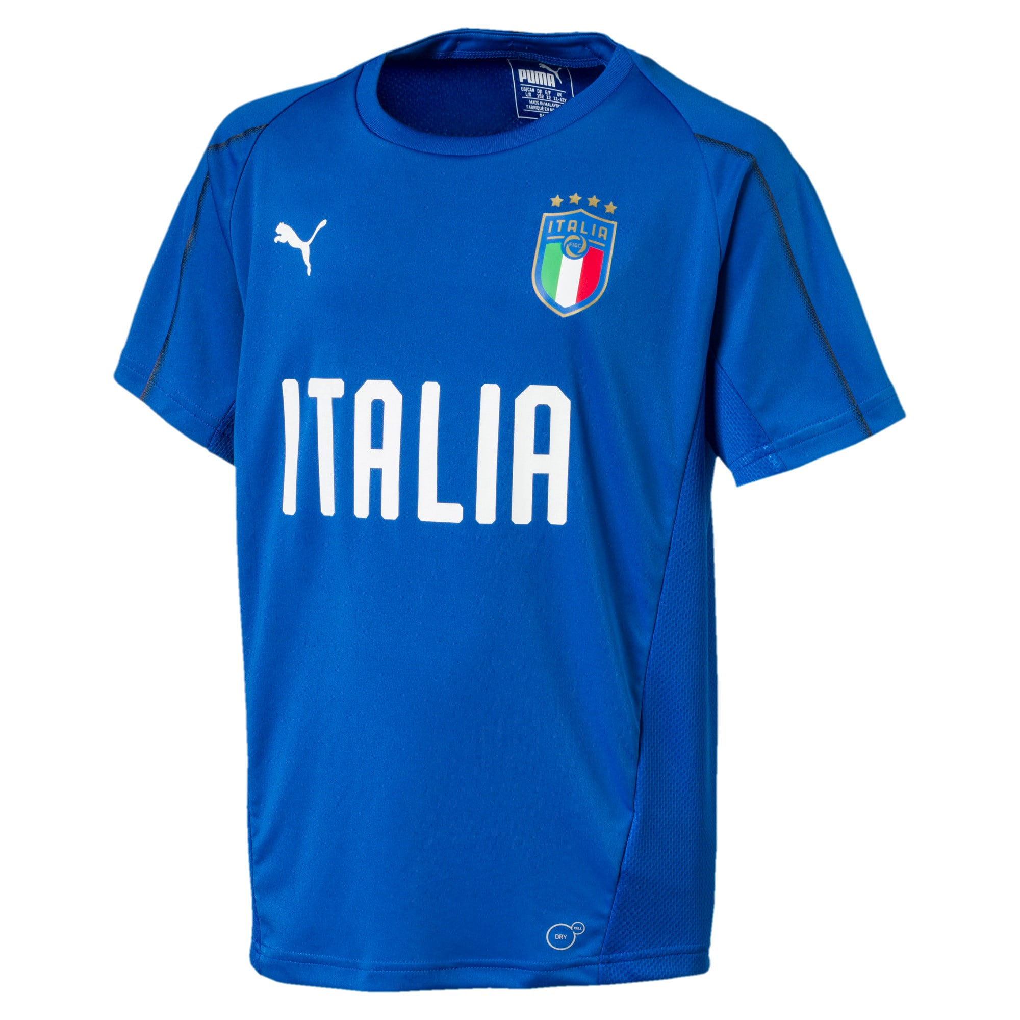 Thumbnail 3 of Italia Short Sleeve Training Jersey Jr, Team Power Blue-Puma White, medium