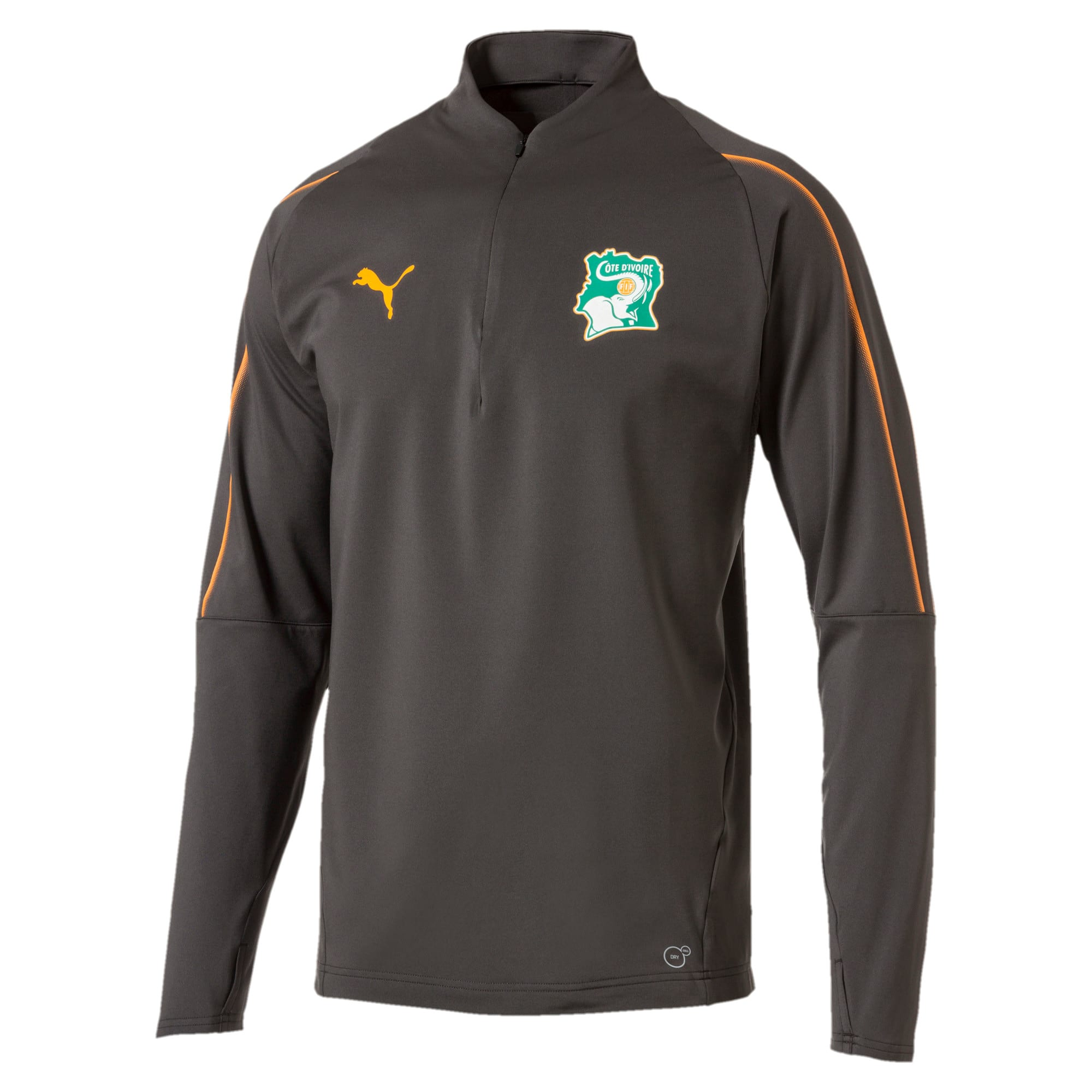 Thumbnail 1 of Ivory Coast 1/4 Zip Training Top, Asphalt, medium
