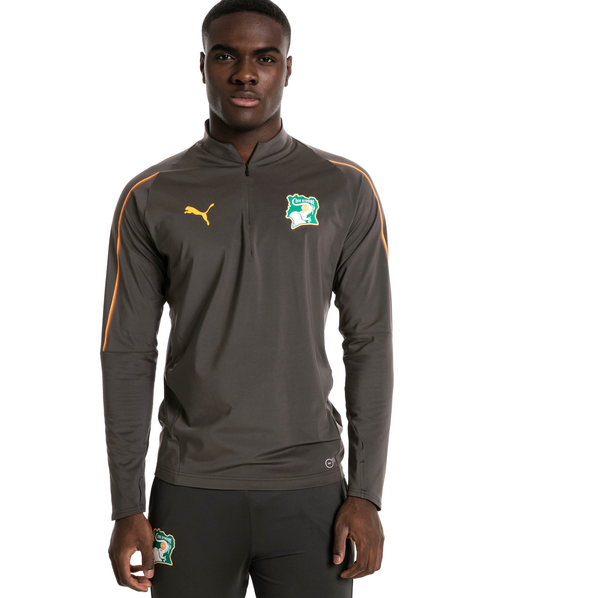 Thumbnail 2 of Ivory Coast 1/4 Zip Training Top, Asphalt, medium