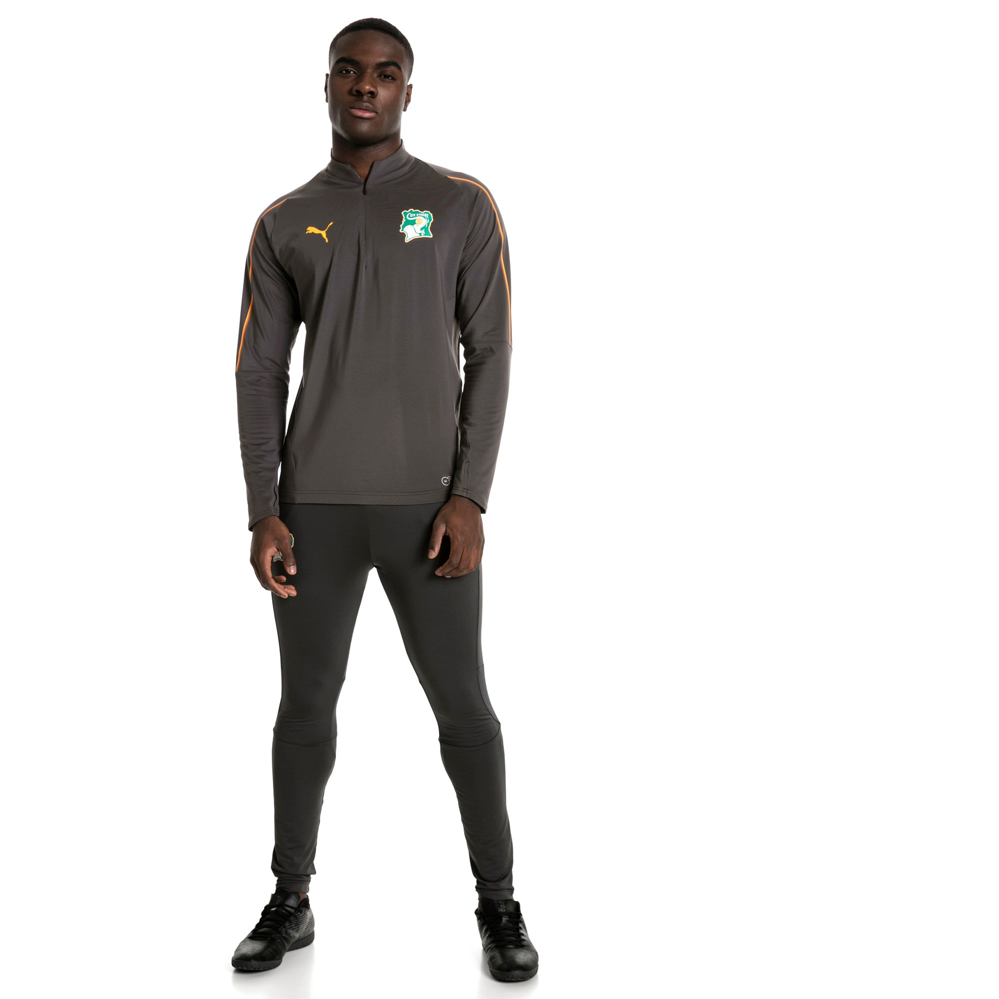 Thumbnail 5 of Ivory Coast 1/4 Zip Training Top, Asphalt, medium