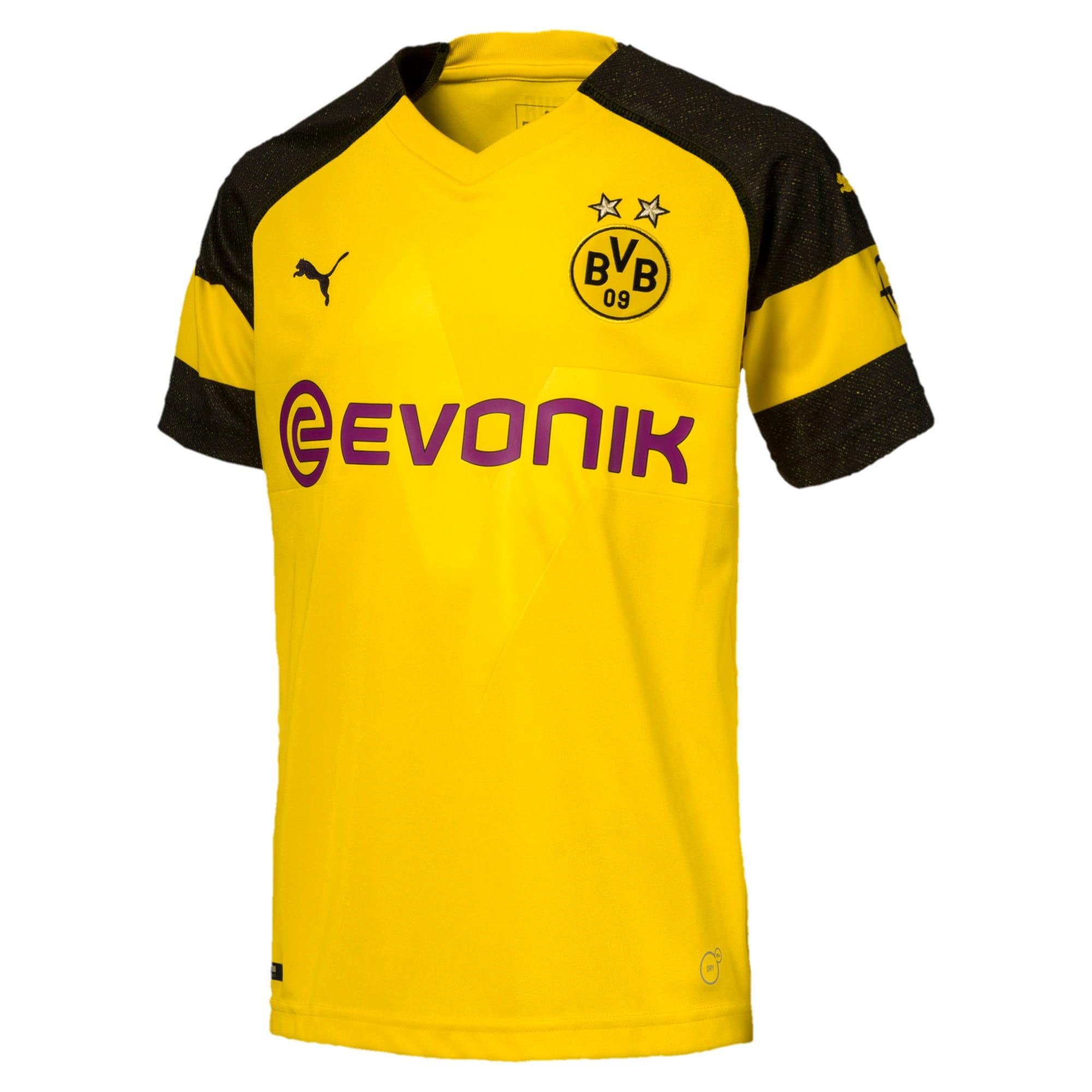 Thumbnail 1 of キッズ BVB ホーム レプリカシャツ, Cyber Yellow, medium-JPN