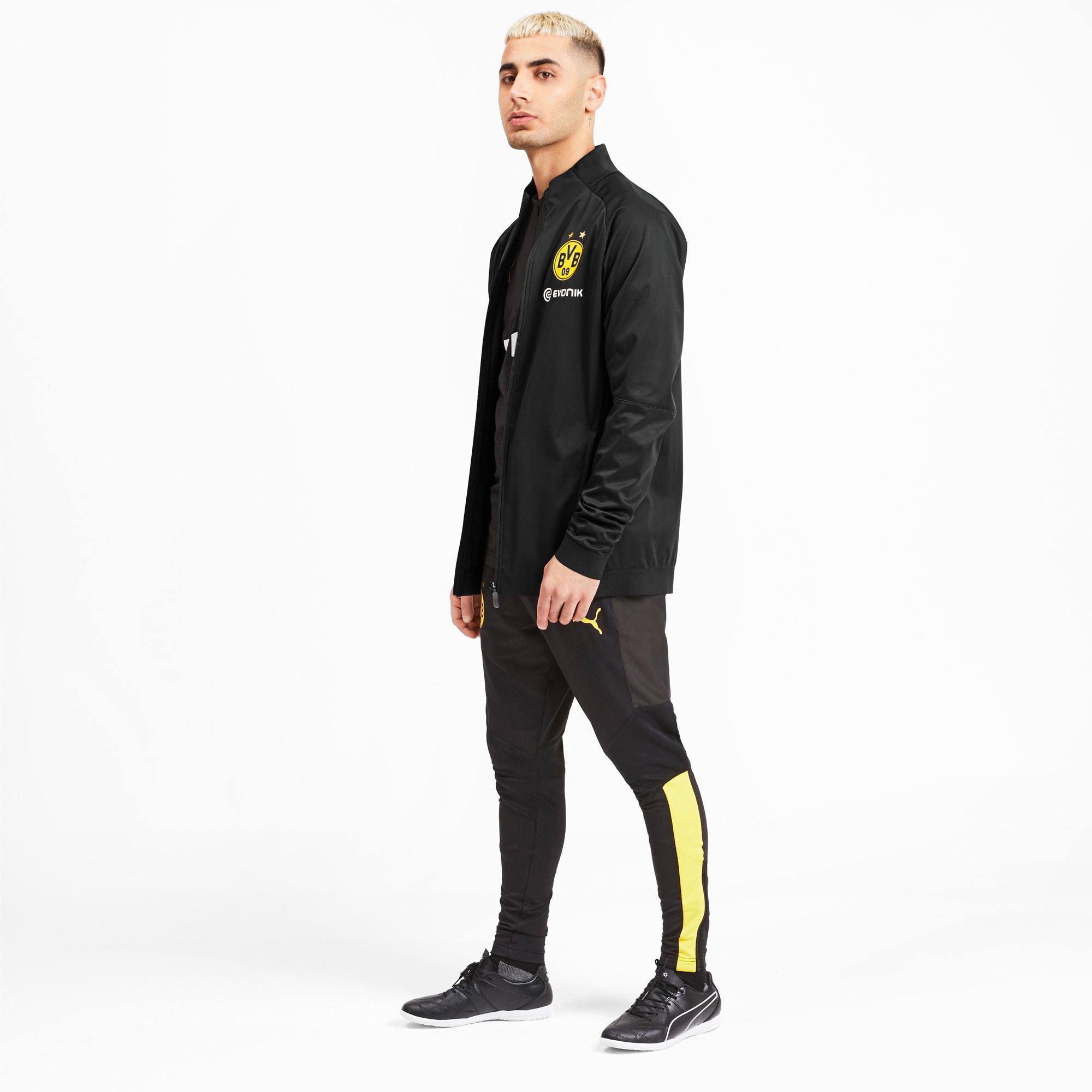 BVB Softshell jakke til mænd | Puma Black Cyber Yellow