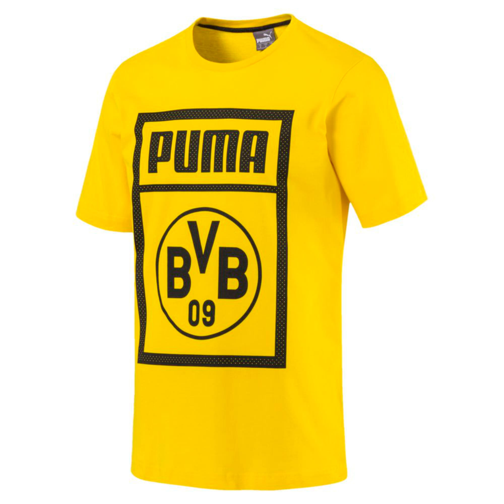 BVB Men's Shoe Tag T-Shirt, Cyber Yellow, large-IND