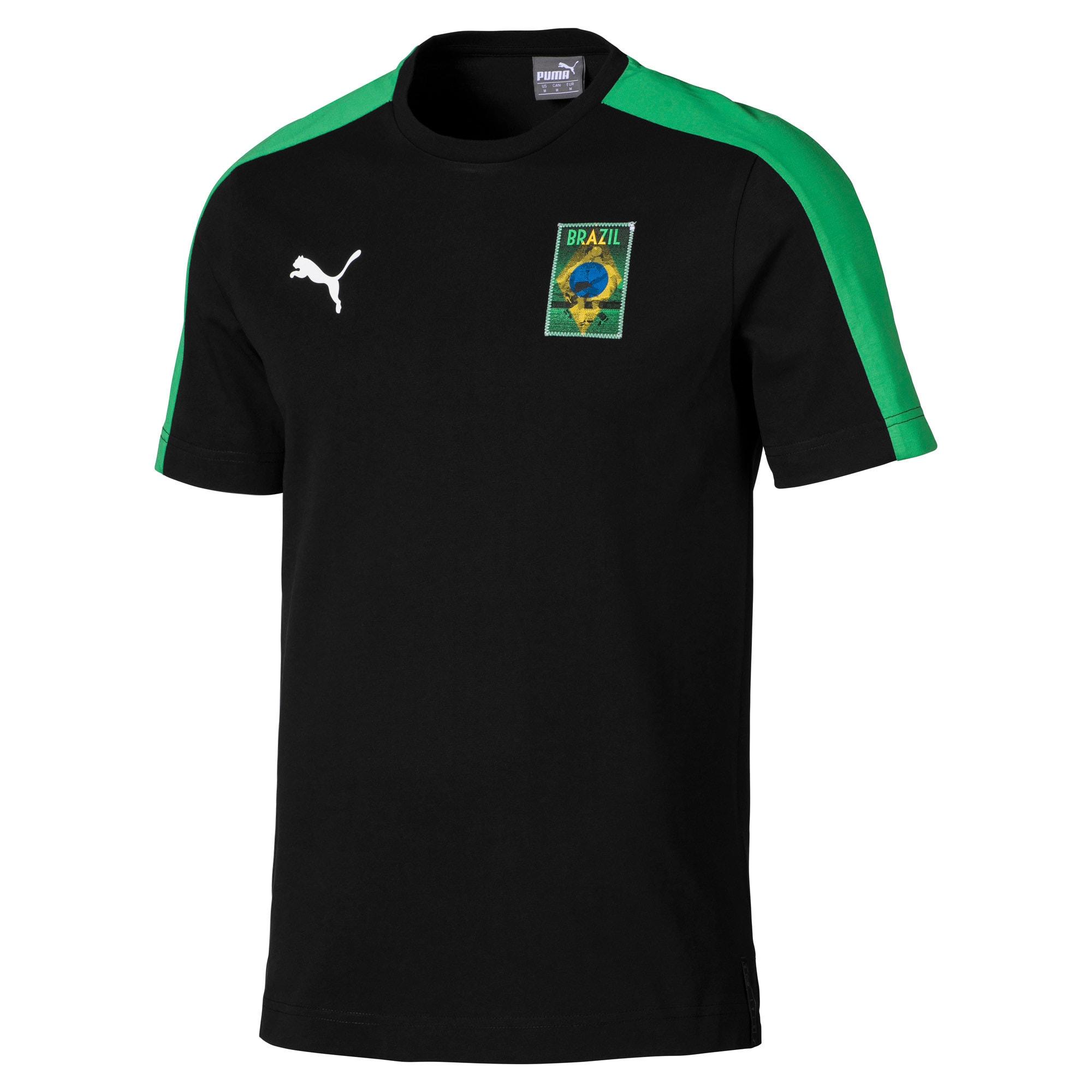 Thumbnail 3 of Copa America Men's T7 Tee, Puma Black-Brazil, medium