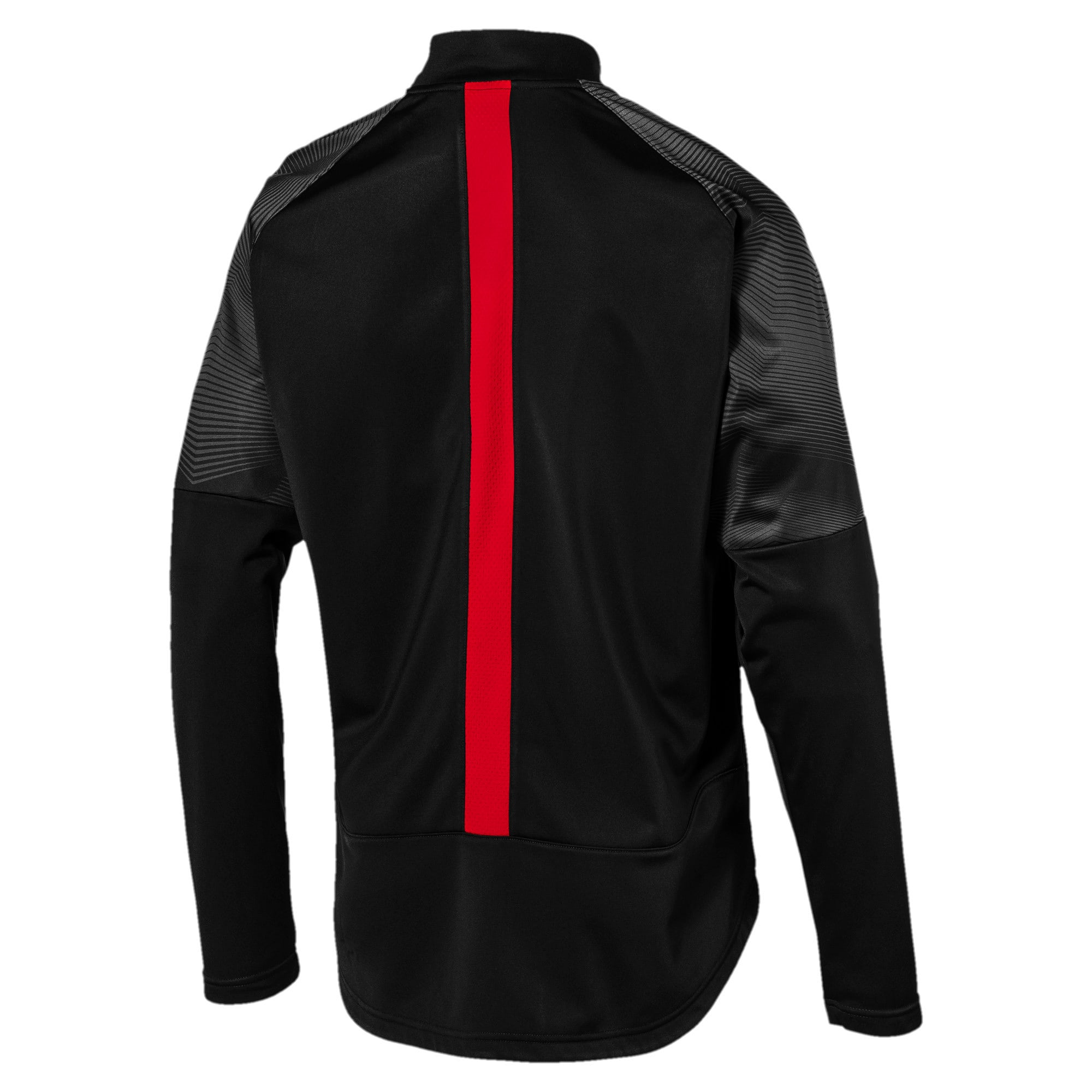 Thumbnail 3 of AC Milan Stadium Men's Poly Jacket, Puma Black-Tango Red, medium