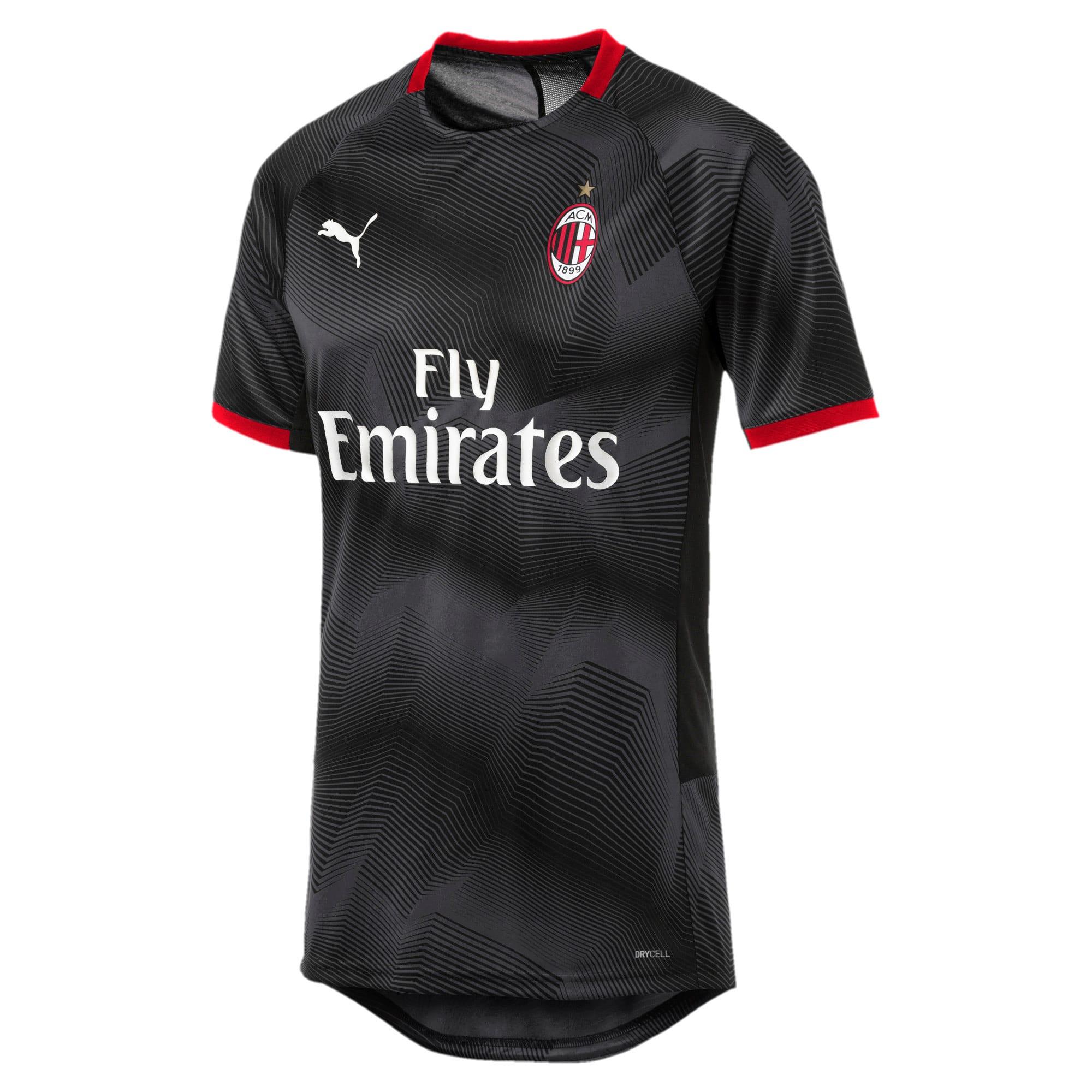 Thumbnail 2 of AC Milan Stadium Jersey, Puma Black-Dark Shadow, medium