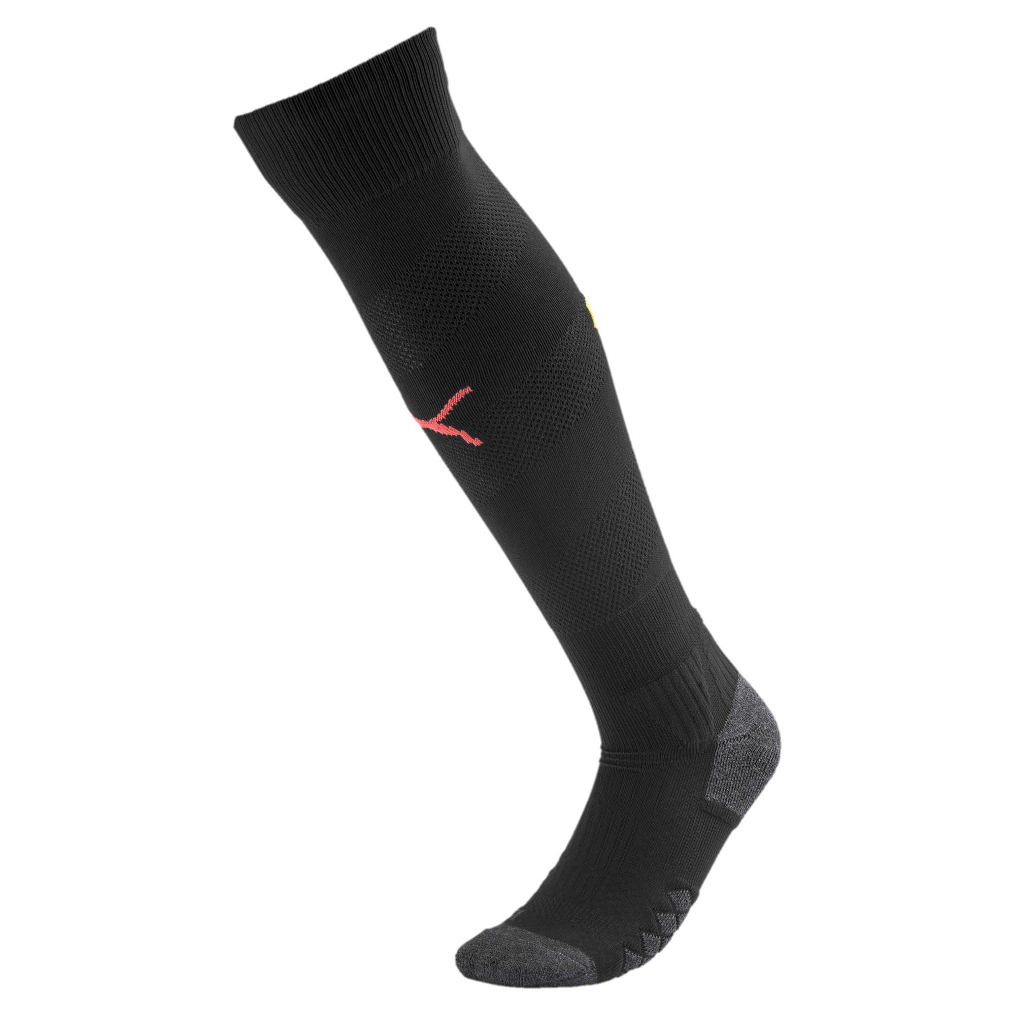 Thumbnail 1 of Man City Spiral Men's Socks, Puma Black-Georgia Peach, medium