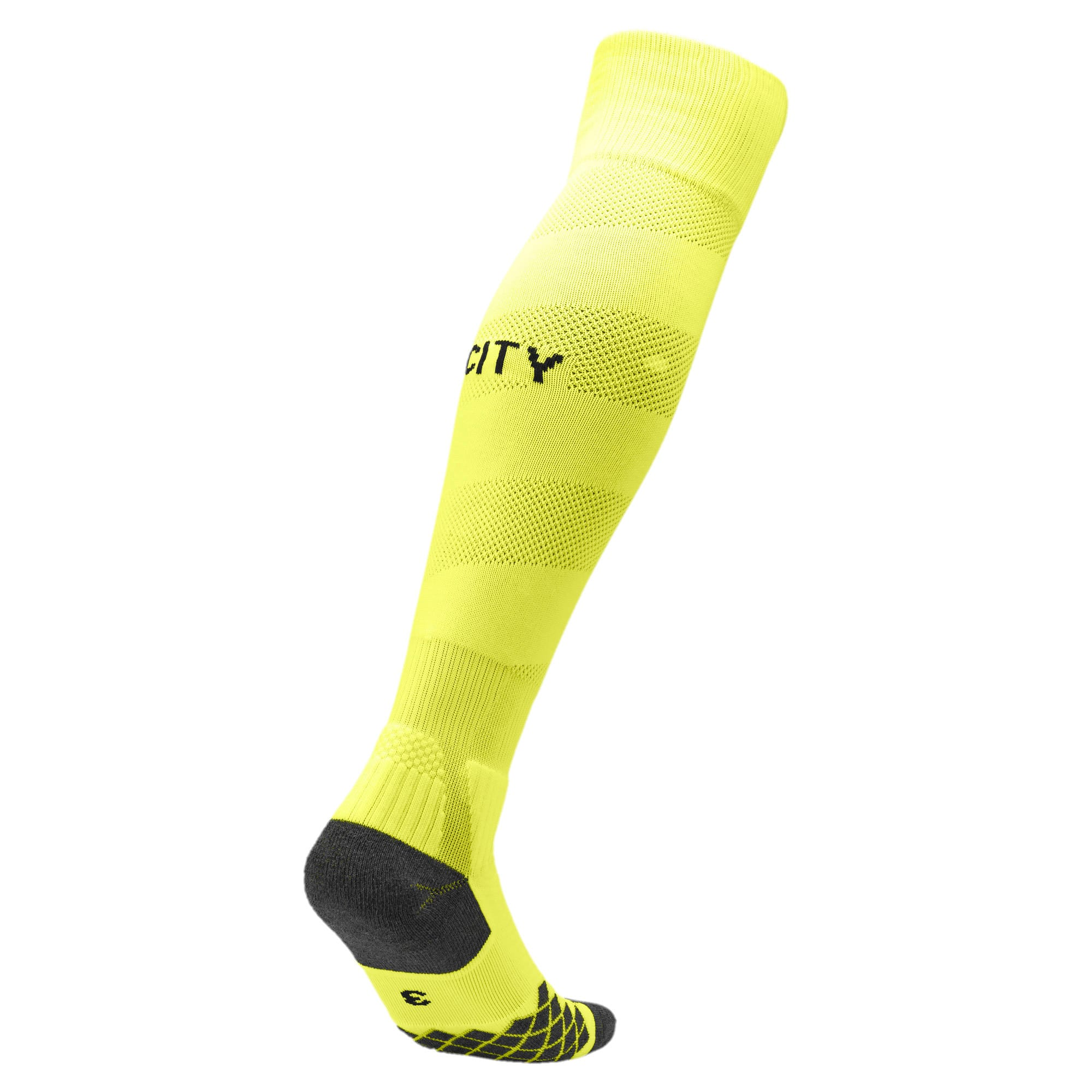 Thumbnail 2 of Man City Spiral Men's Socks, Fizzy Yellow-Puma Black, medium