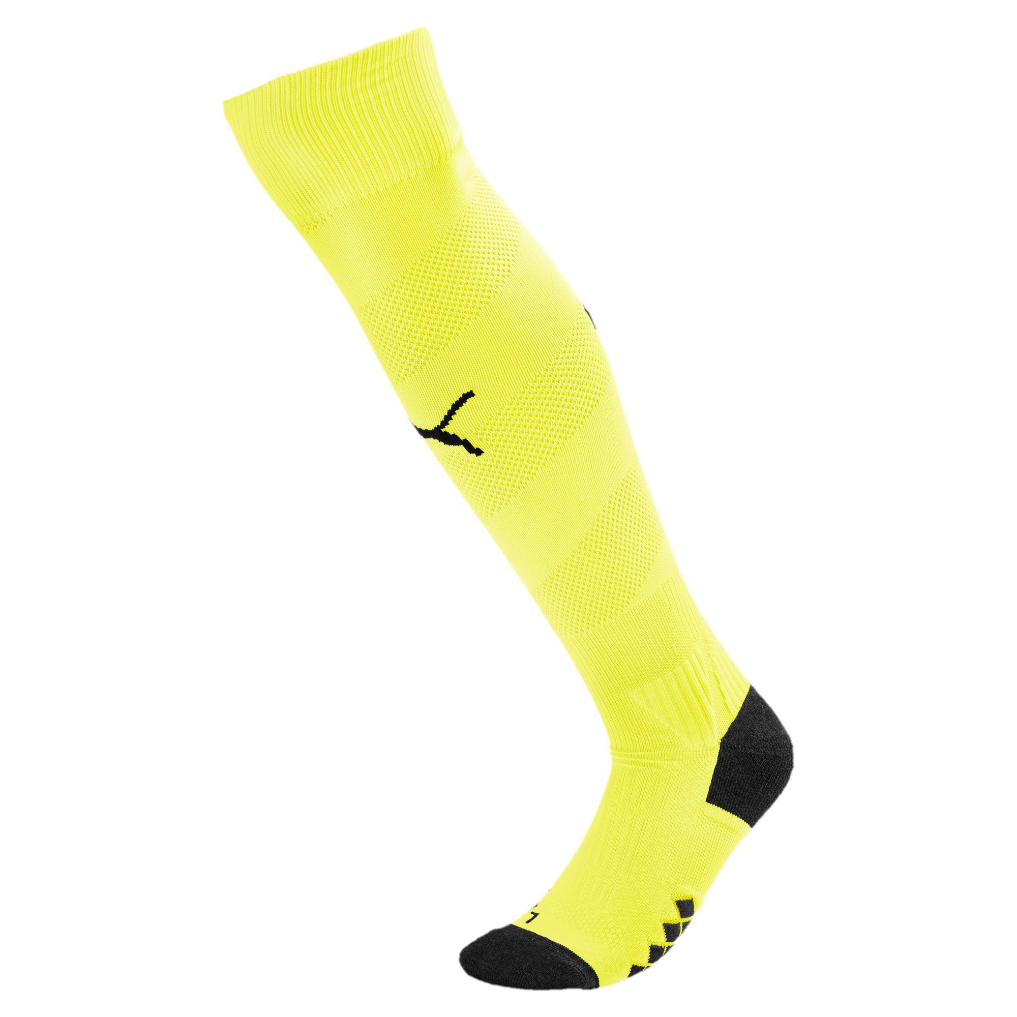 Thumbnail 1 of Man City Spiral Men's Socks, Fizzy Yellow-Puma Black, medium