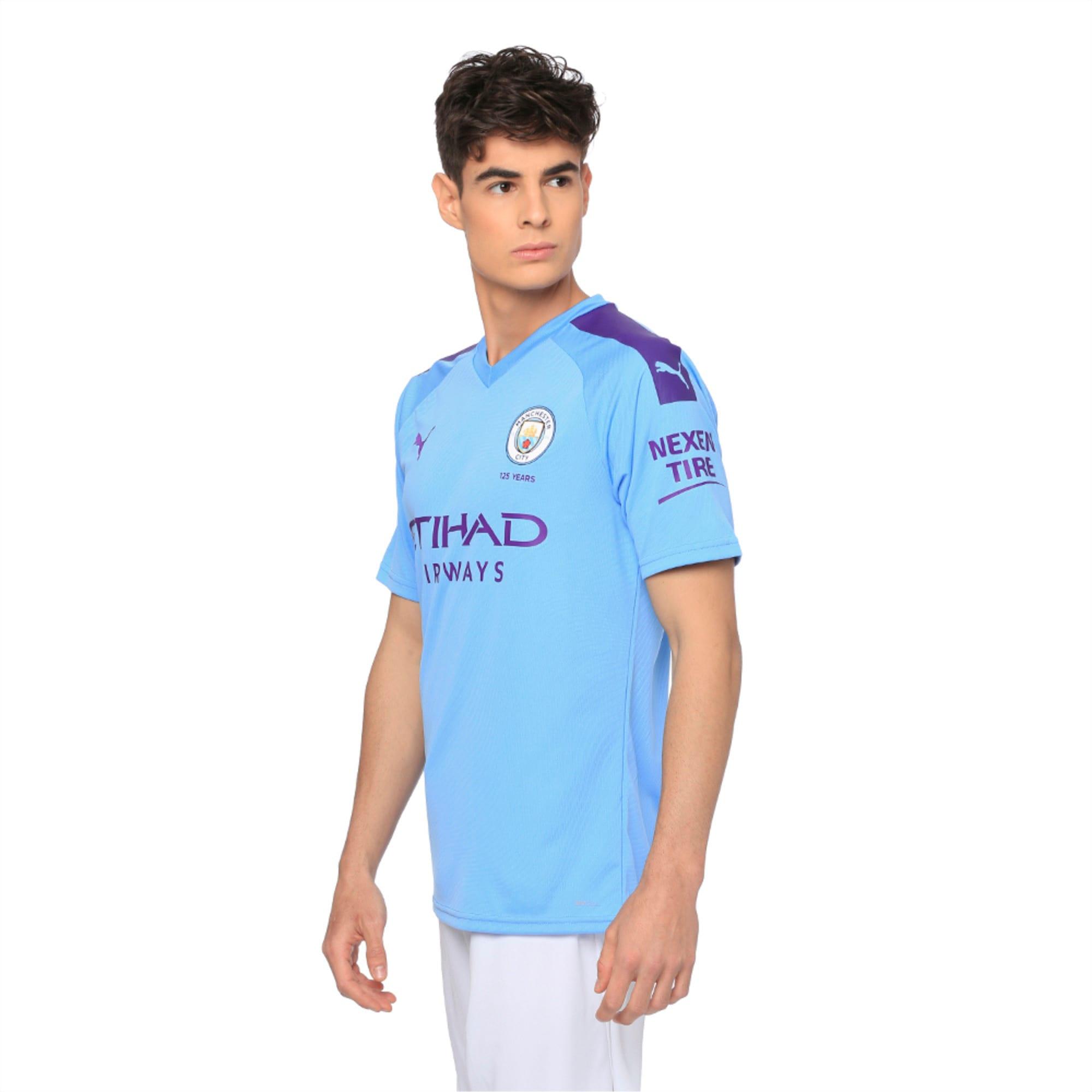 Manchester City FC Home dryCELL Men's Jersey | TeamLightBlue-TillandsiaPurp  | PUMA Orverseas Club