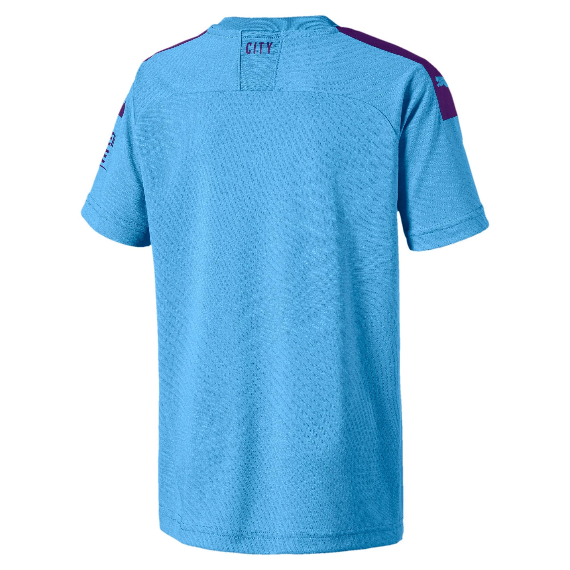 Thumbnail 3 of Man City Short Sleeve Kids' Home Replica Jersey, TeamLightBlue-TillandsiaPurp, medium-IND