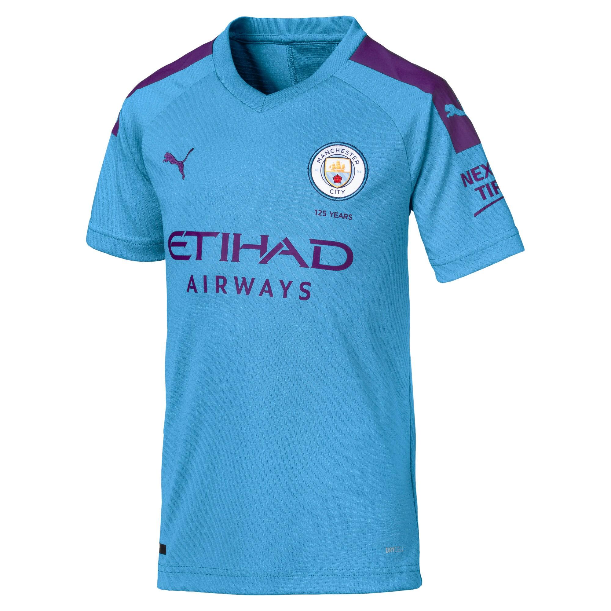 Thumbnail 1 of Camiseta de manga corta de la primera equipación de réplica de niño Man City, TeamLightBlue-TillandsiaPurp, medium