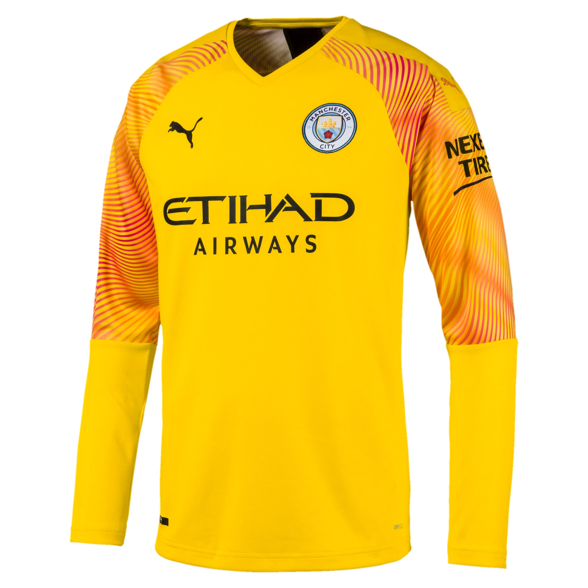 Thumbnail 1 of Man City Men's Replica Goalkeeper Jersey, Cyber Yellow-Puma Black, medium