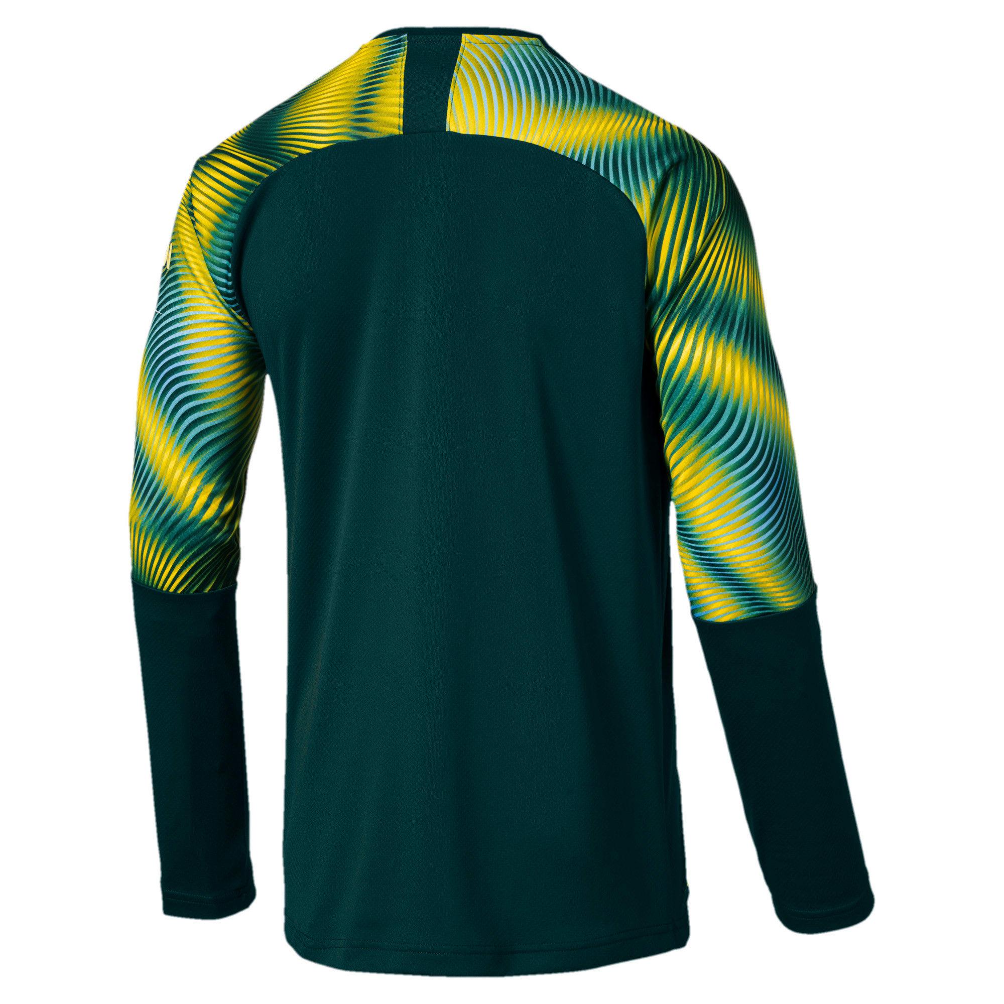 Thumbnail 2 of Man City Men's Replica Goalkeeper Jersey, Ponderosa Pine-Cyber Yellow, medium