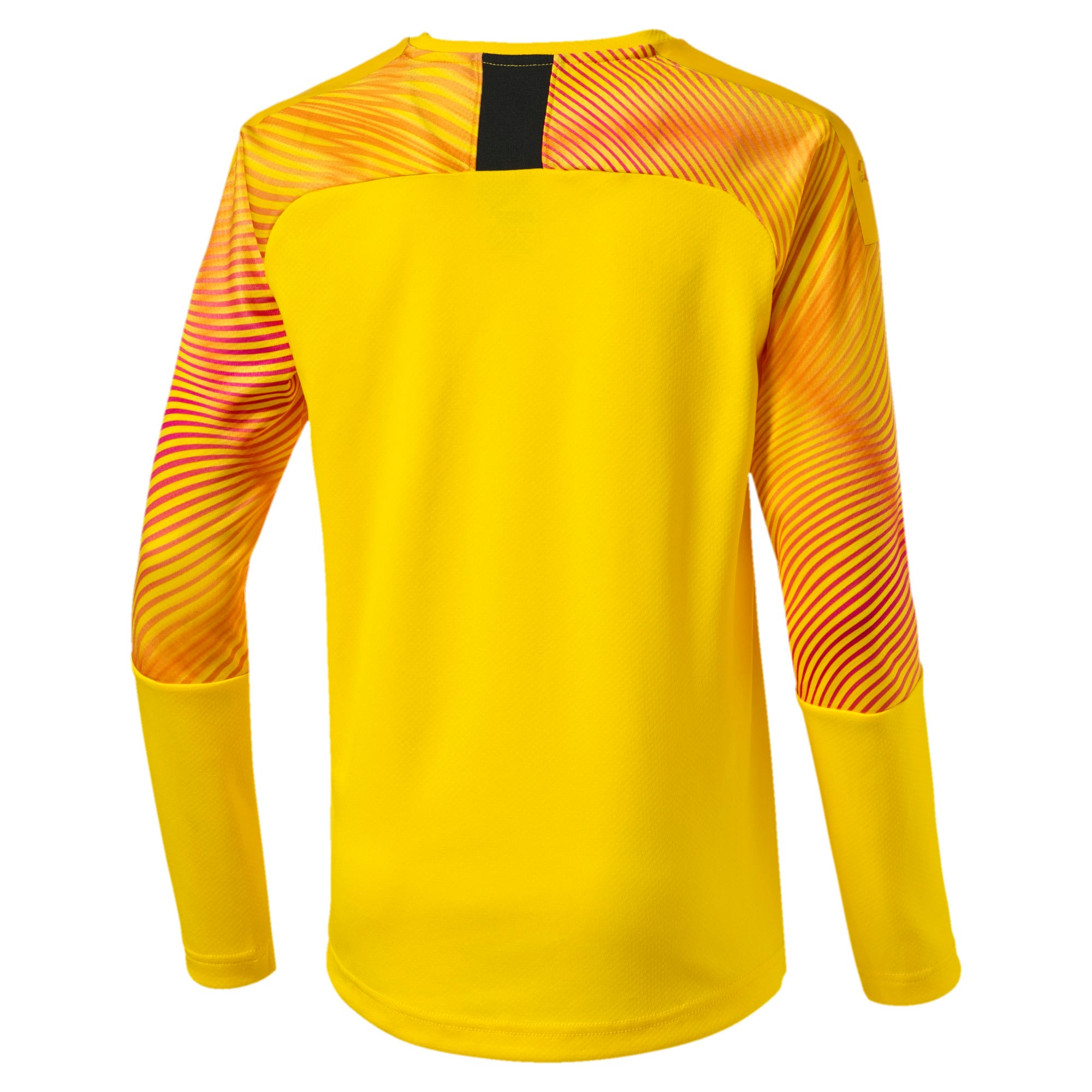 Thumbnail 2 of Man City Long Sleeve Kids' Replica Goalkeeper Jersey, Cyber Yellow-Puma Black, medium