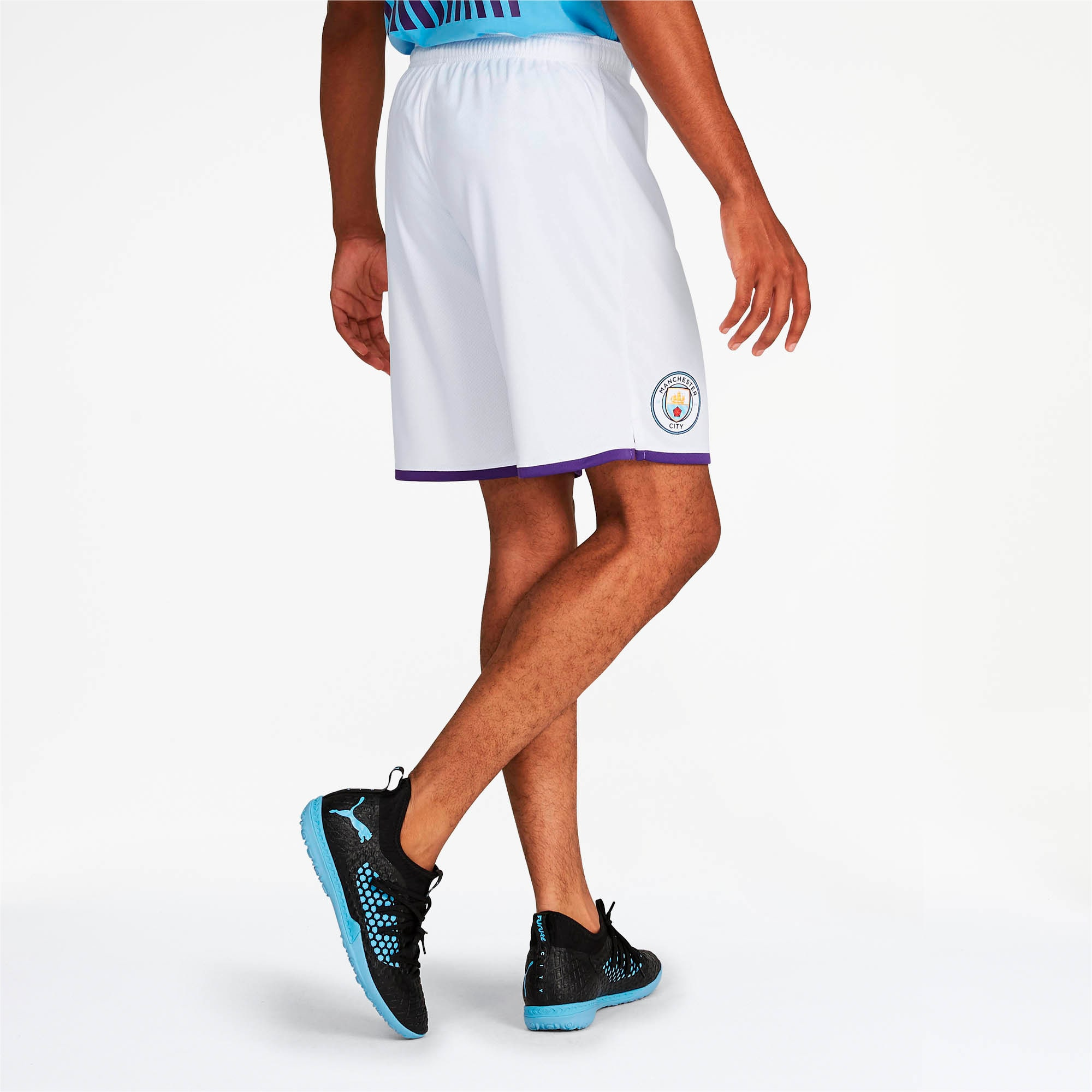 Thumbnail 2 of Manchester City Men's Third Replica Shorts, Puma White-Tillandsia Purple, medium