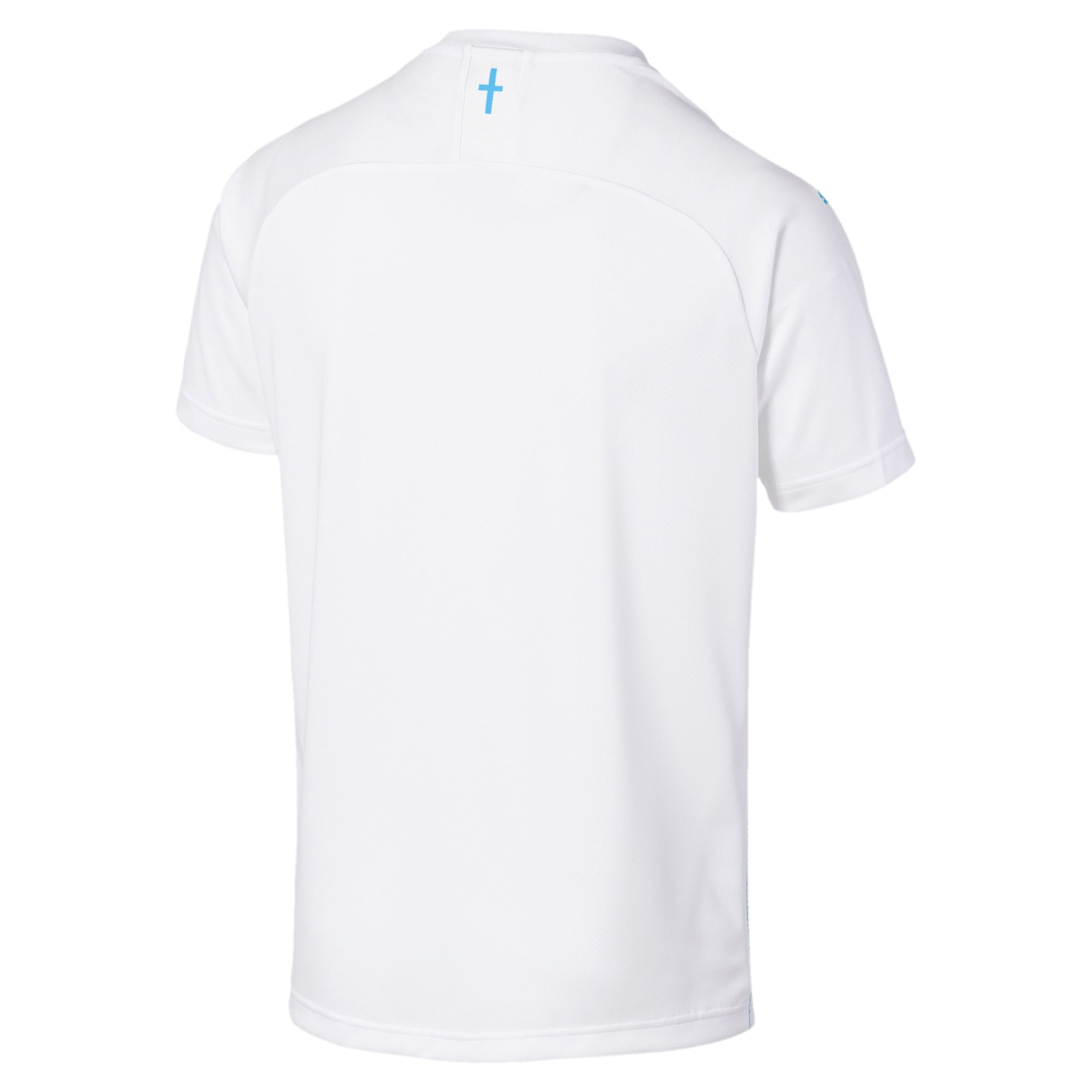 Thumbnail 2 of Olympique de Marseille Herren Replica Heimtrikot, Puma White-Bleu Azur, medium