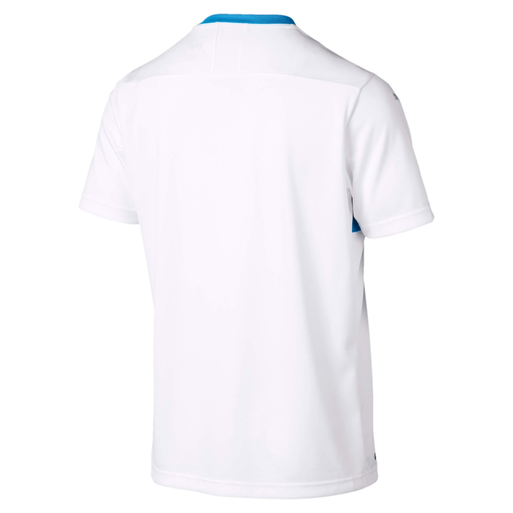 Thumbnail 2 of Olympique de Marseille 120th Anniversary Short Sleeve Men's Replica Jersey, Puma White-Bleu Azur, medium