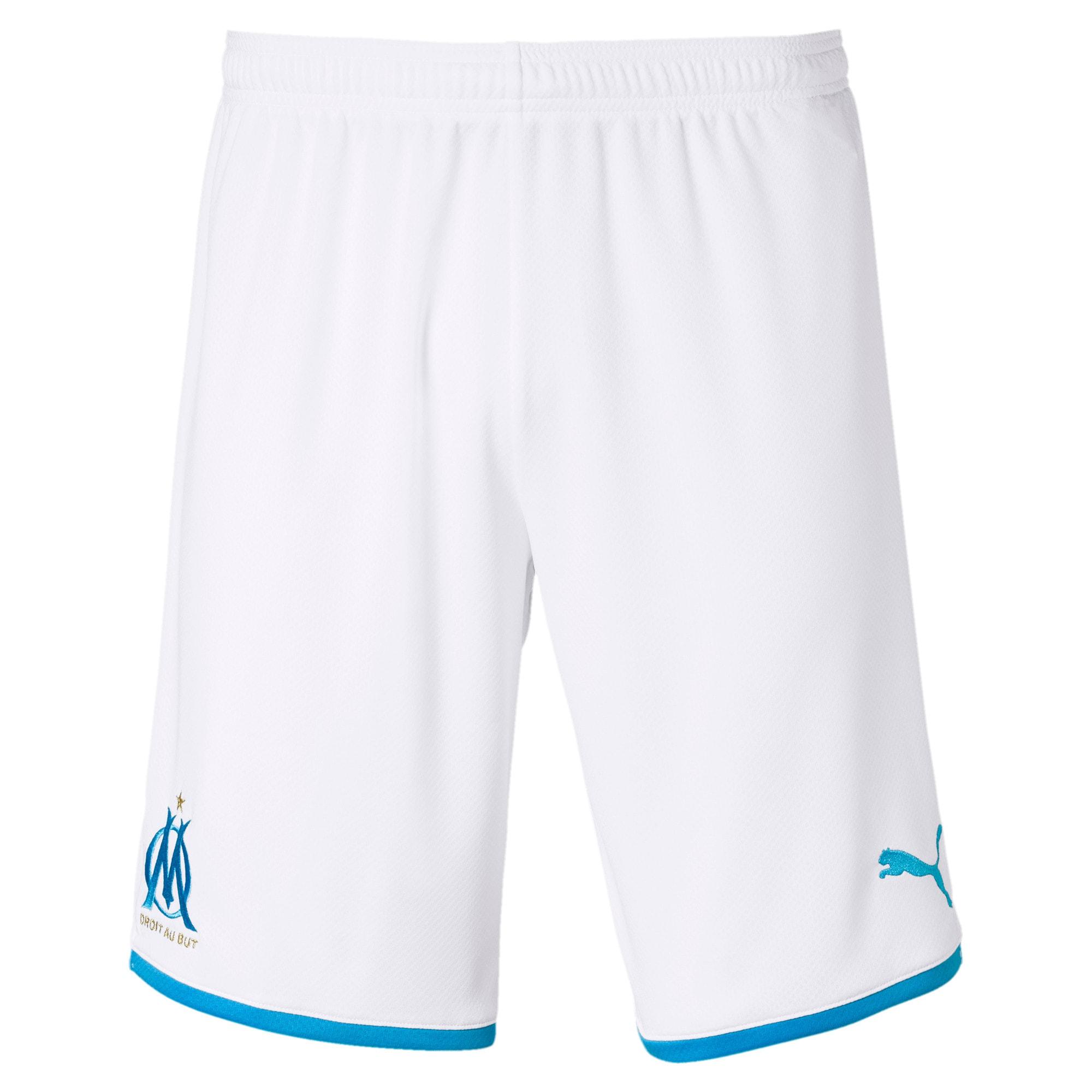 Thumbnail 1 of Olympique de Marseille Men's Replica Shorts, Puma White-Bleu Azur, medium