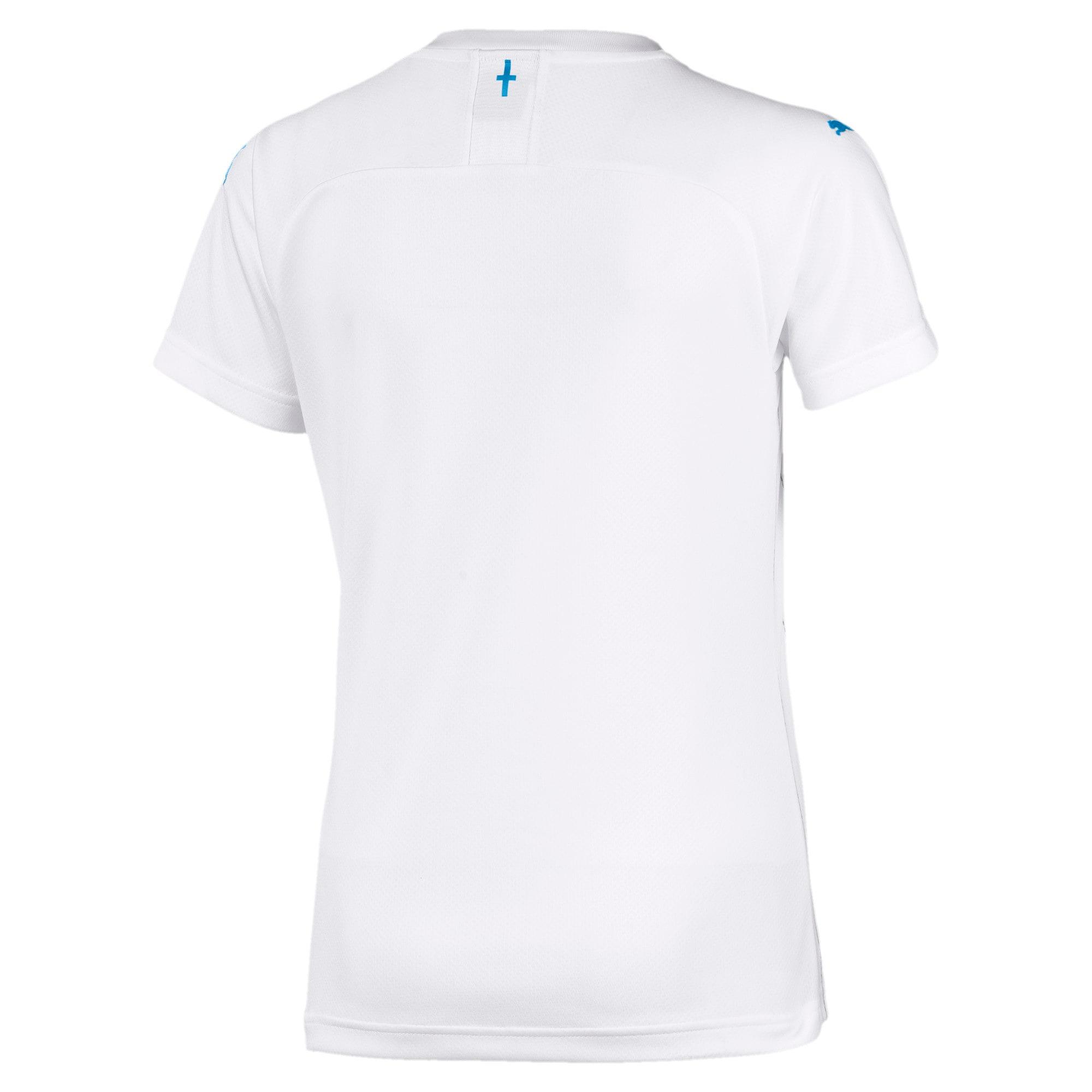 Thumbnail 2 of Olympique de Marseille Women's Home Replica Jersey, Puma White-Bleu Azur, medium