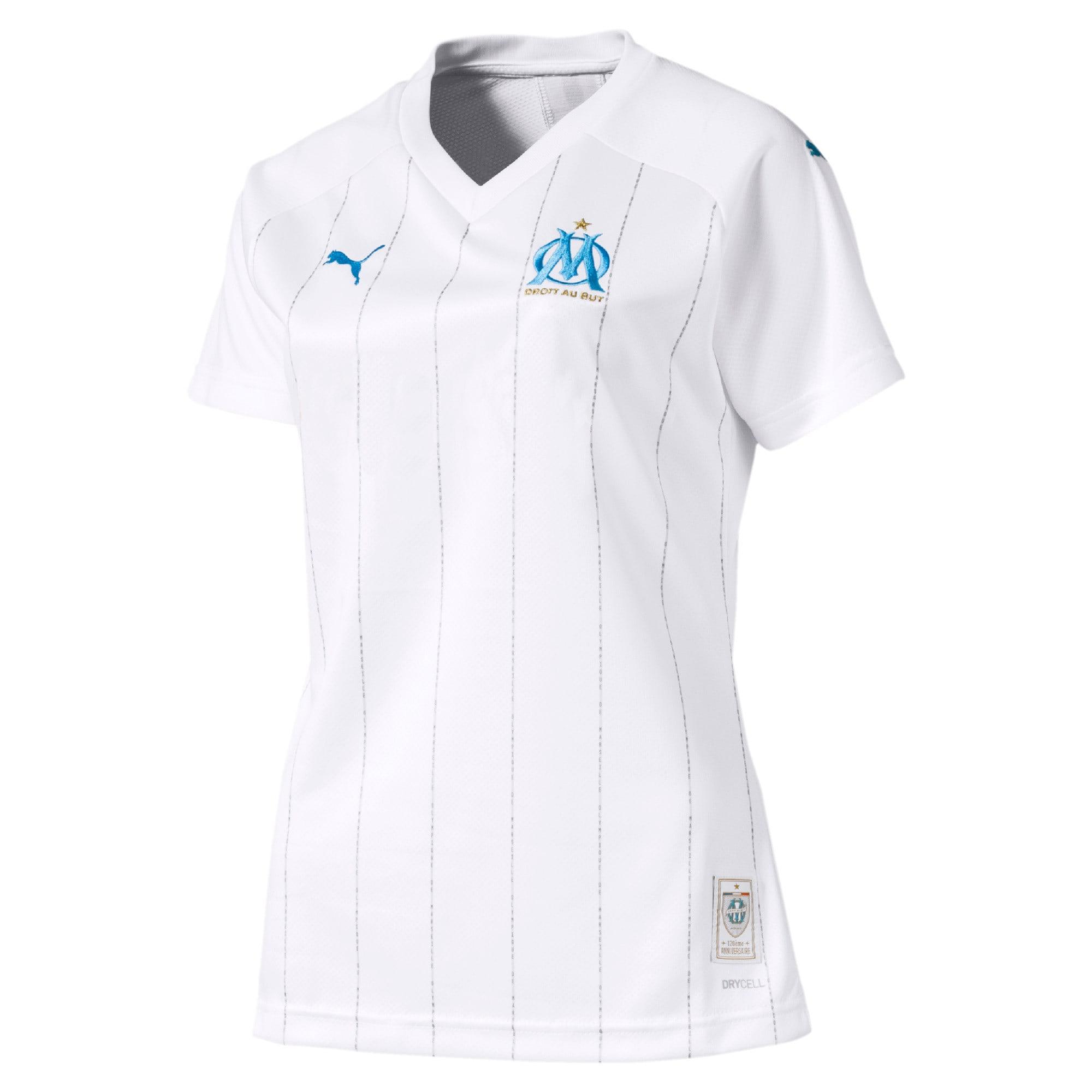 Thumbnail 1 of Olympique de Marseille Women's Home Replica Jersey, Puma White-Bleu Azur, medium