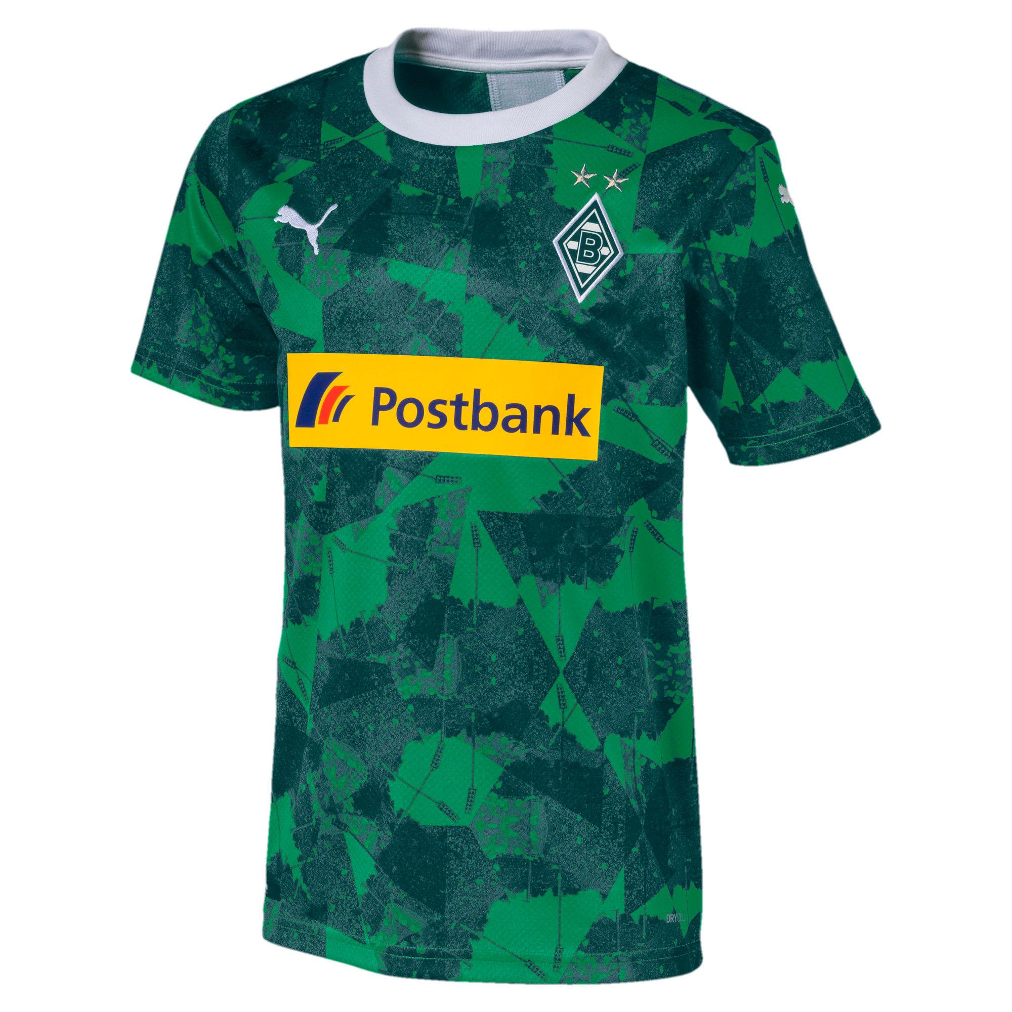 Thumbnail 1 of Borussia Mönchengladbach Kids' Third Replica Jersey, Amazon Green-Ponderosa Pine, medium
