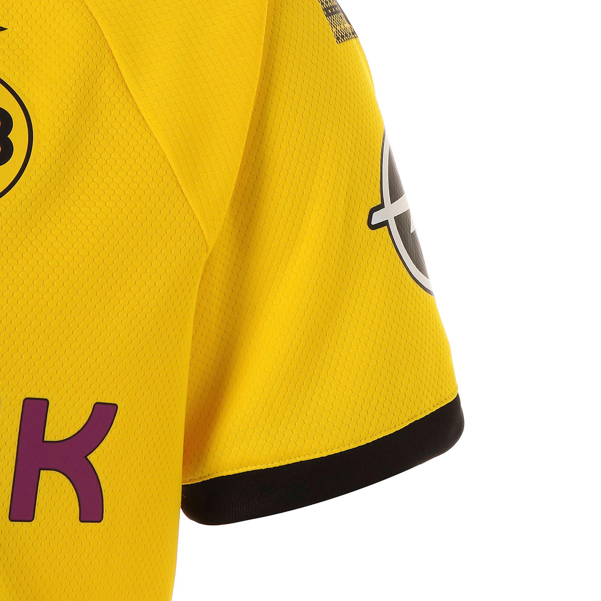 Thumbnail 5 of ドルトムント BVB SS ホーム オーセンティック シャツ 半袖, Cyber Yellow-Puma Black, medium-JPN