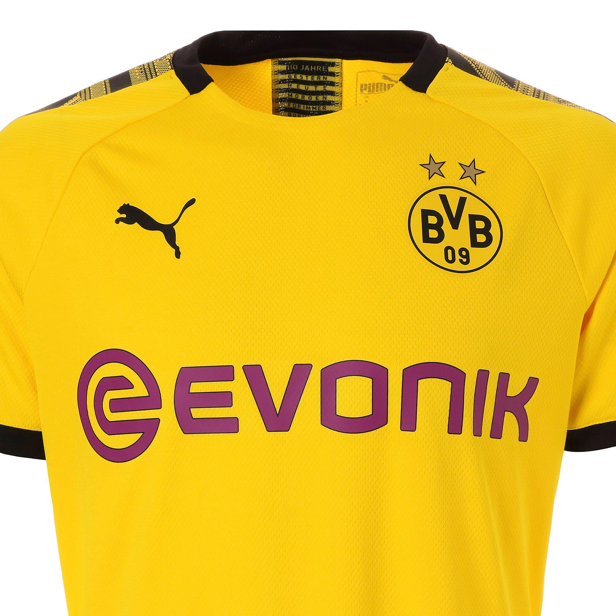 Thumbnail 7 of ドルトムント BVB SS ホーム オーセンティック シャツ 半袖, Cyber Yellow-Puma Black, medium-JPN