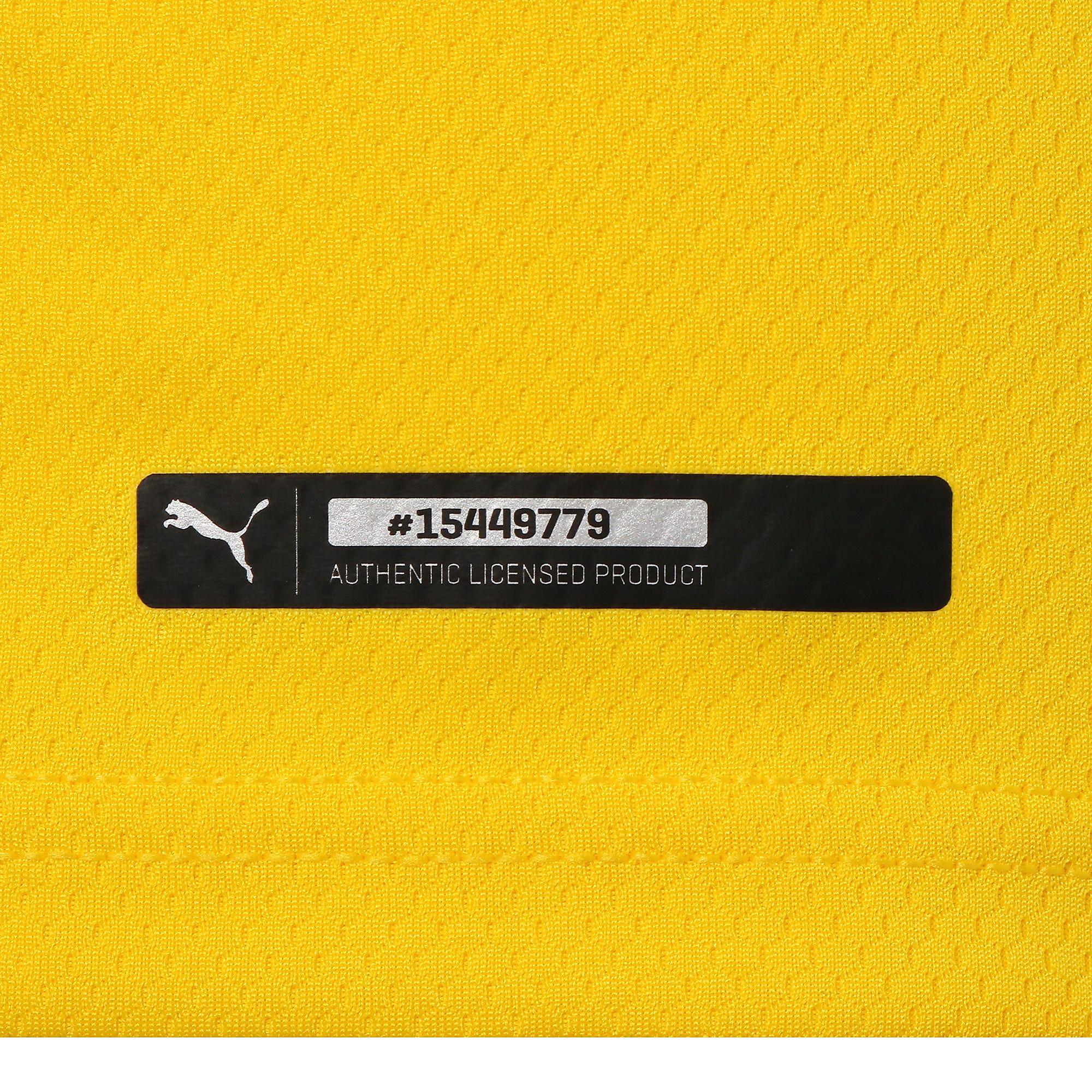 Thumbnail 8 of ドルトムント BVB SS ホーム オーセンティック シャツ 半袖, Cyber Yellow-Puma Black, medium-JPN